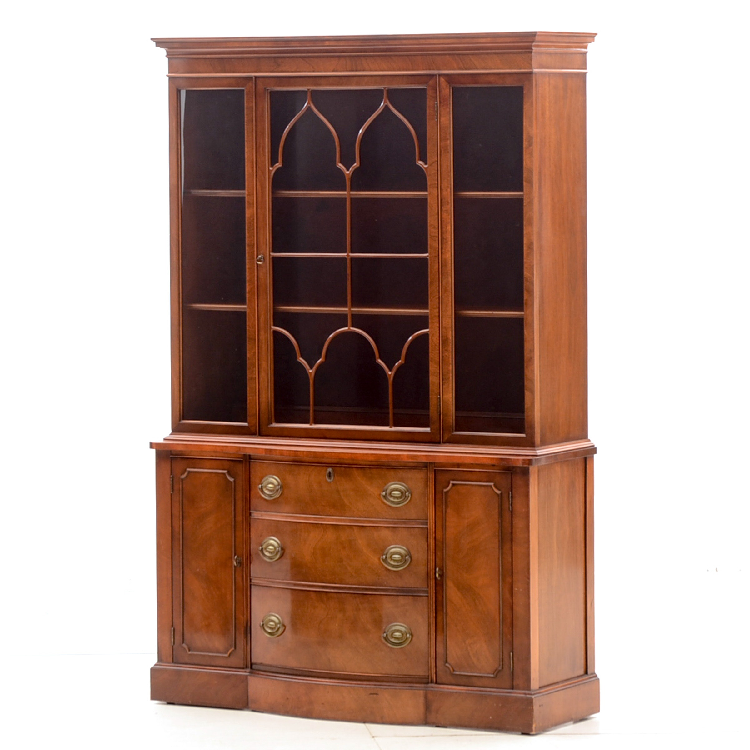Duncan Phyfe Style Walnut Cabinet