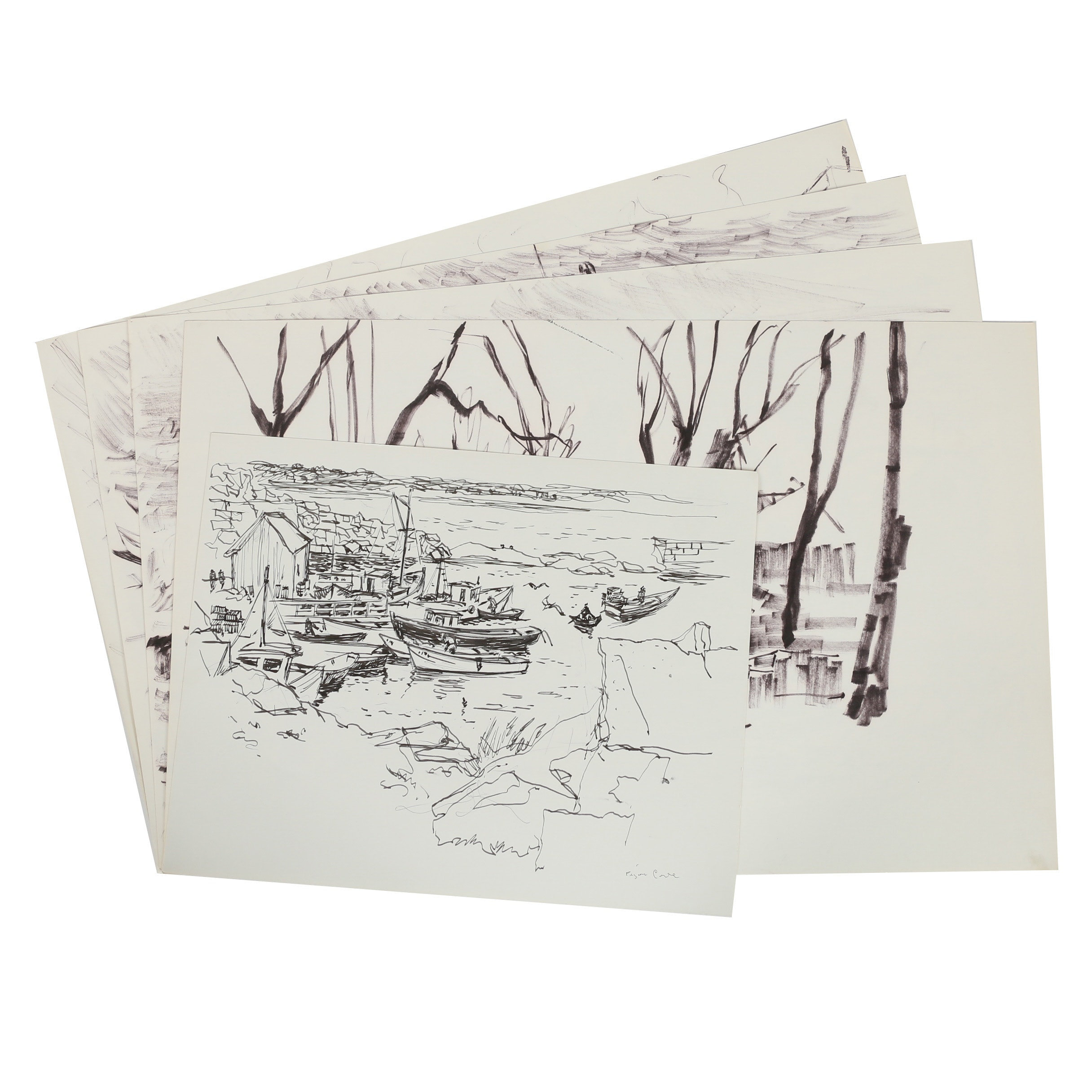 Carl Zimmerman Ink Sketches