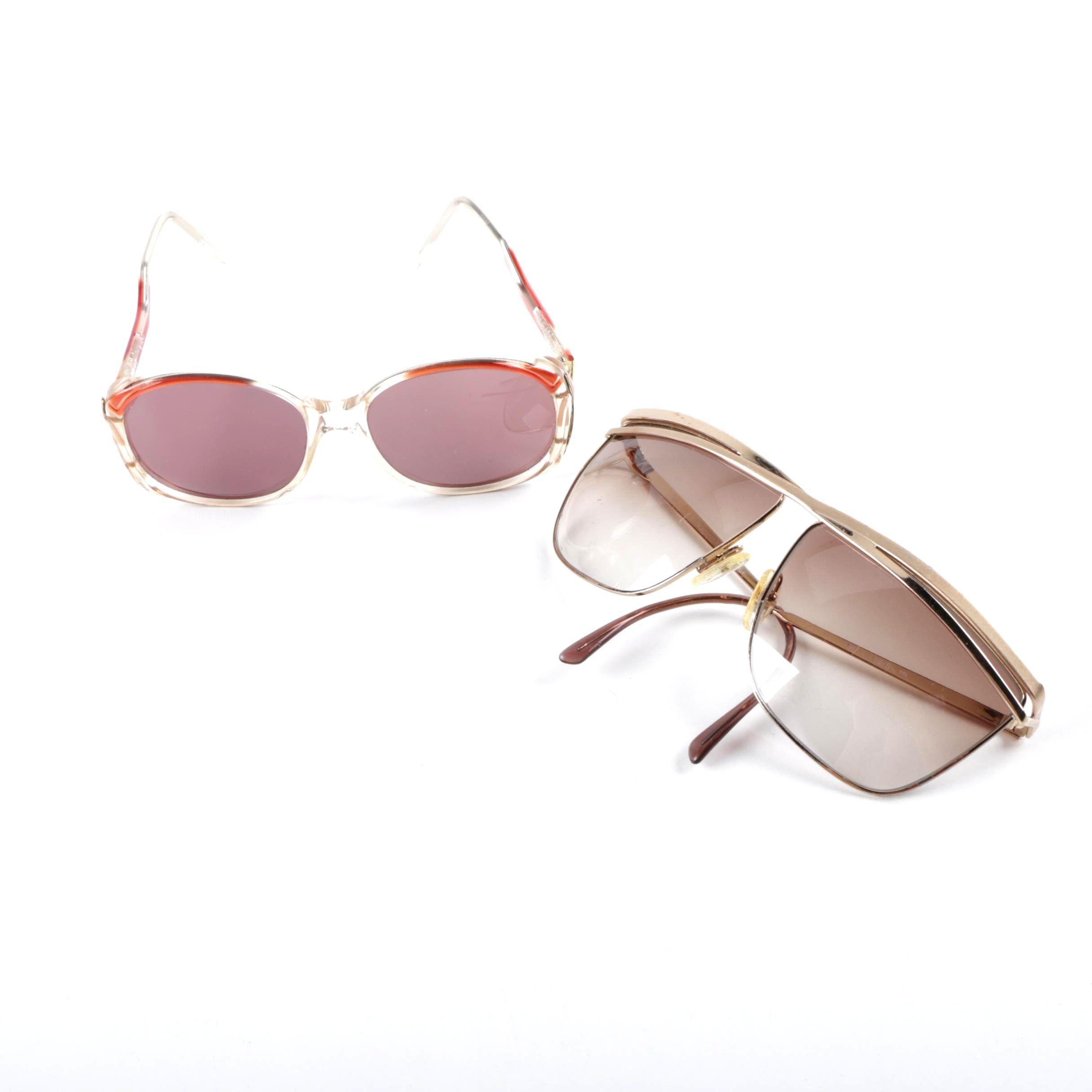 1980s Vintage Laura Biagiotti and Lido Italian Sunglasses