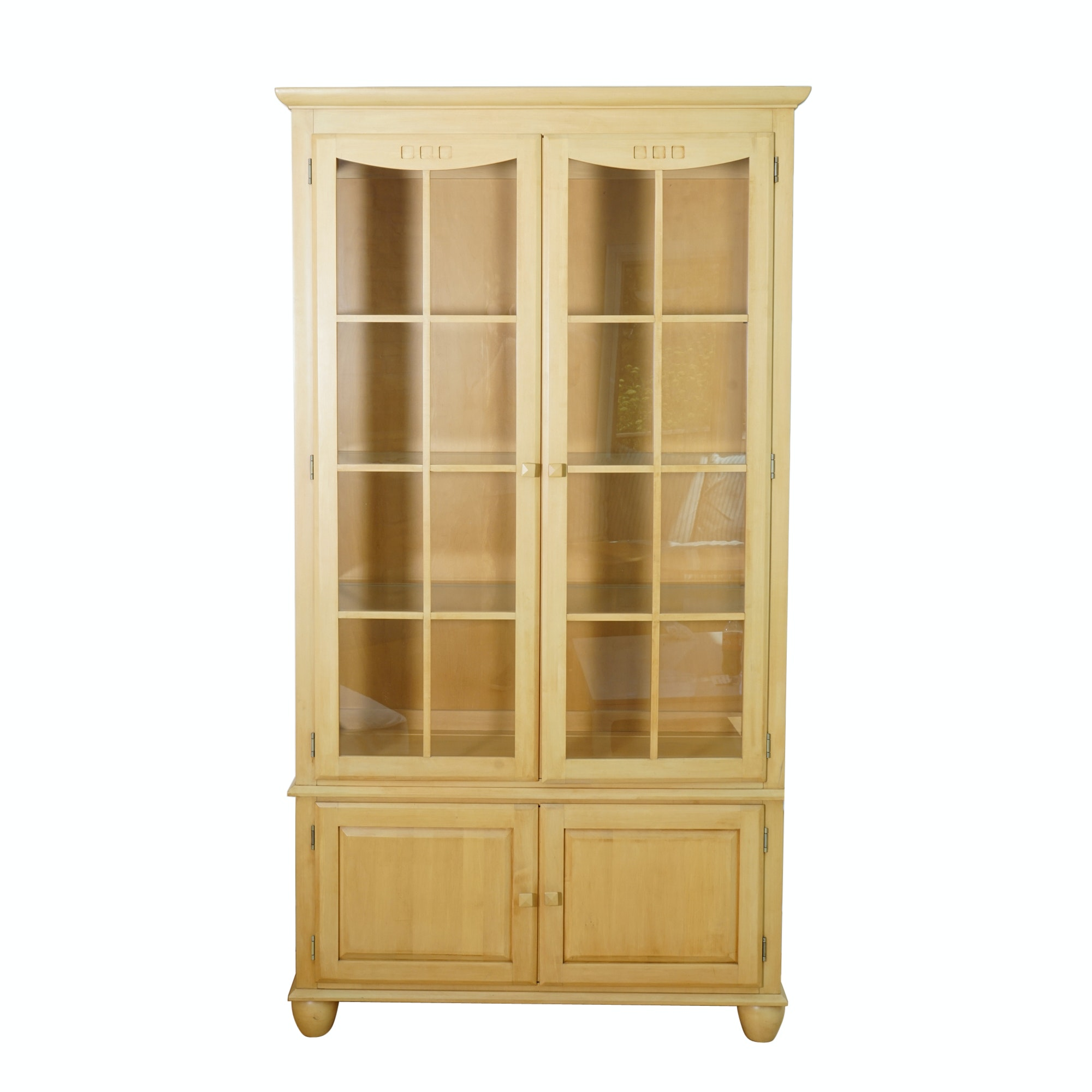 """""""American Dimensions"""" Illuminated Display Cabinet by Ethan Allen"""