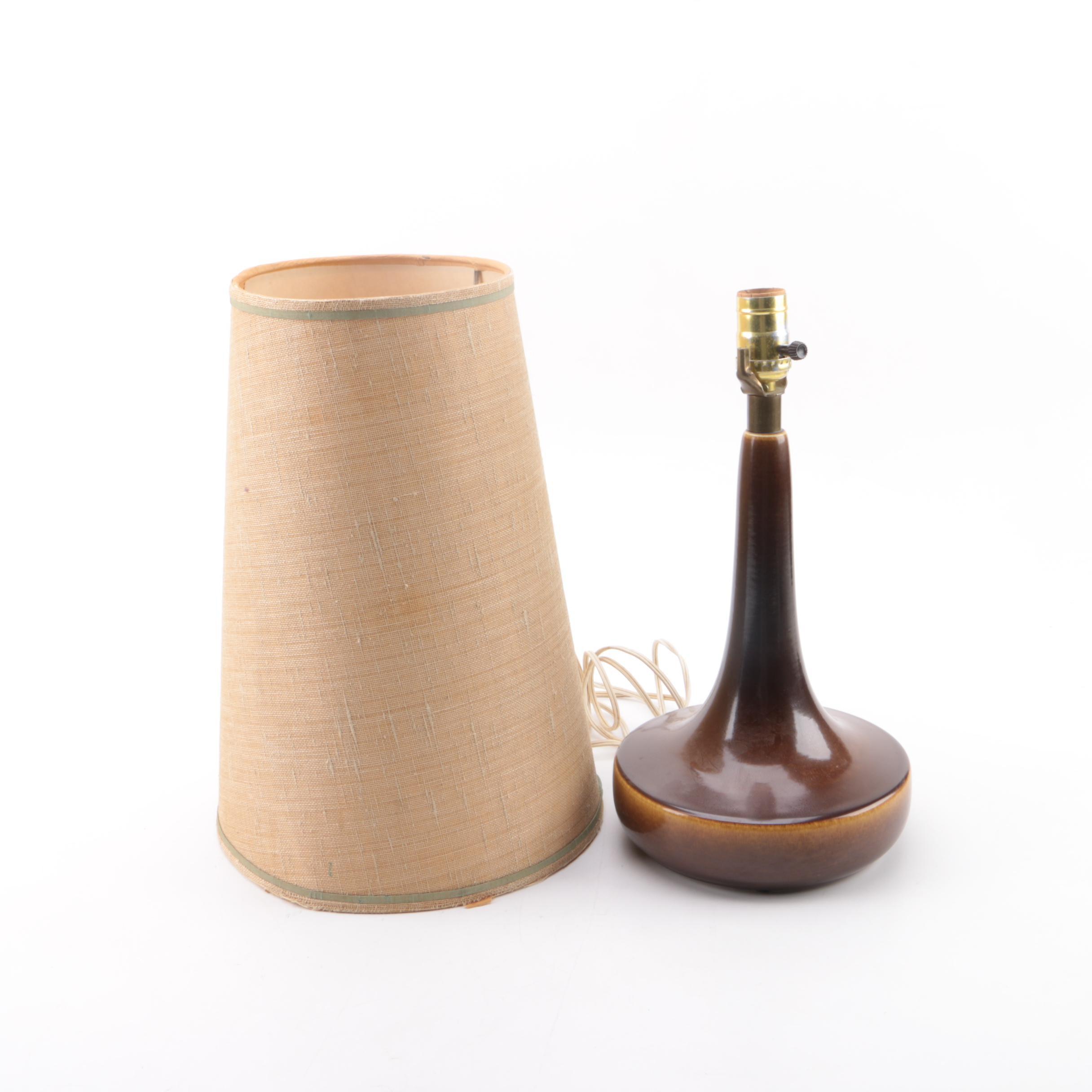 Vintage Brown Ceramic Table Lamp