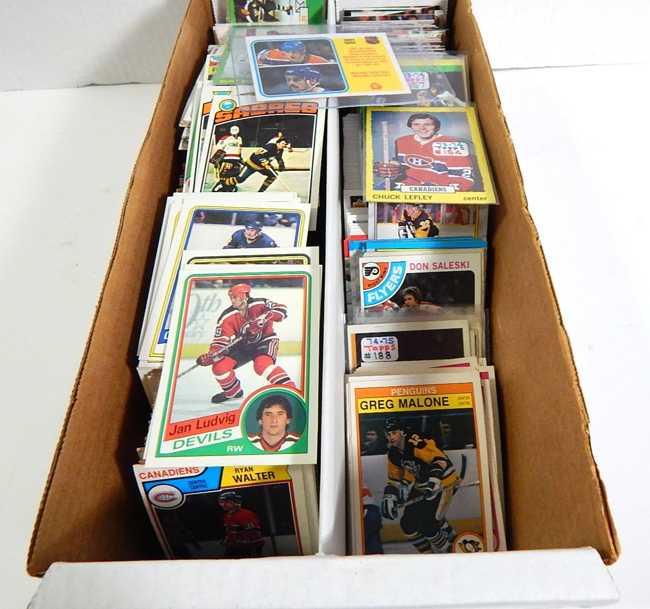 1970 to 1990s Box of Hockey Cards - Over 1000 Card Count