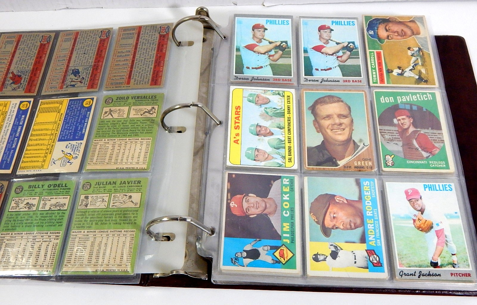Vintage Topps Baseball Cards in Album from 1950s through 1974 with Mathews,Mays