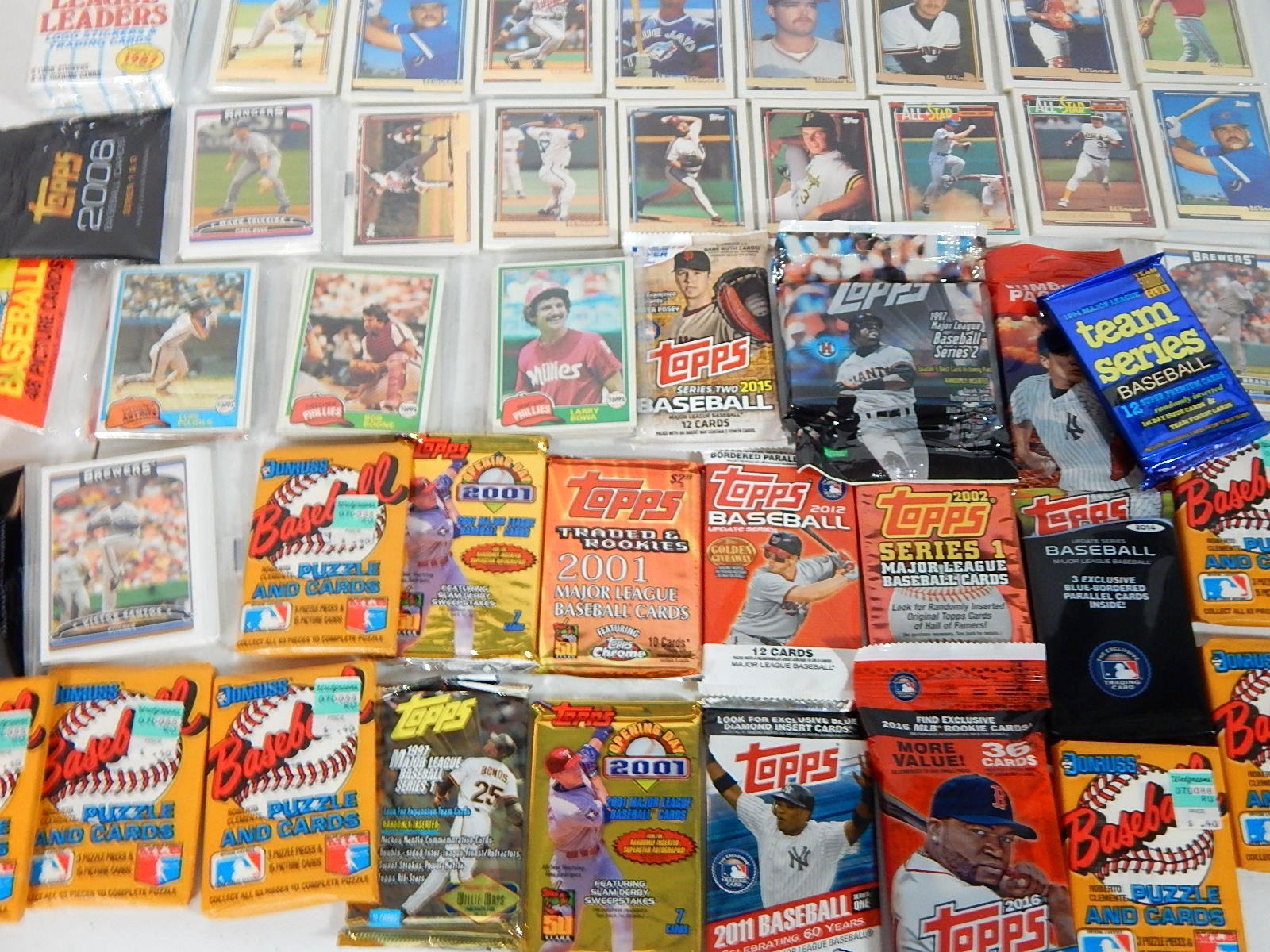 Collection of Unopened Wax Pack Baseball Cards from 1981 to 2011 - 47 Lot Count