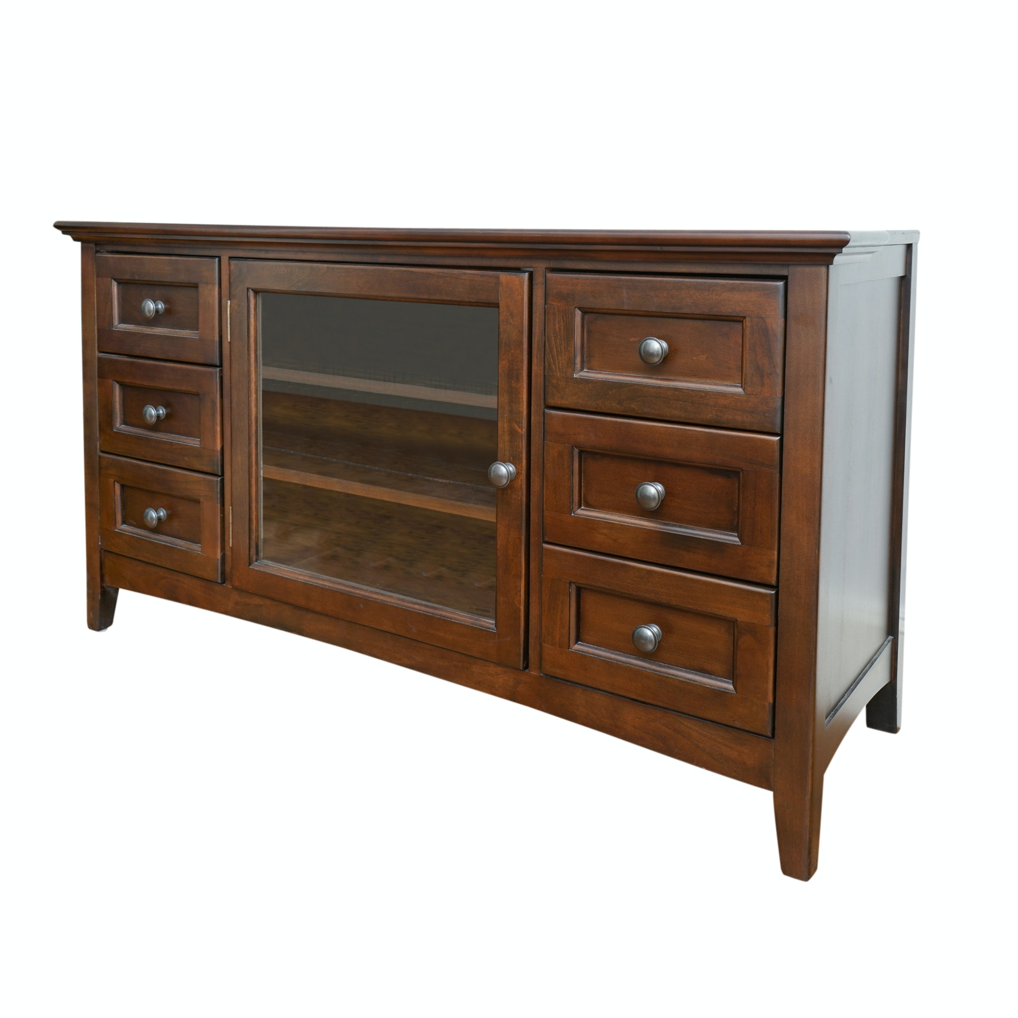 Contemporary Media Console by Whittier Wood Furniture