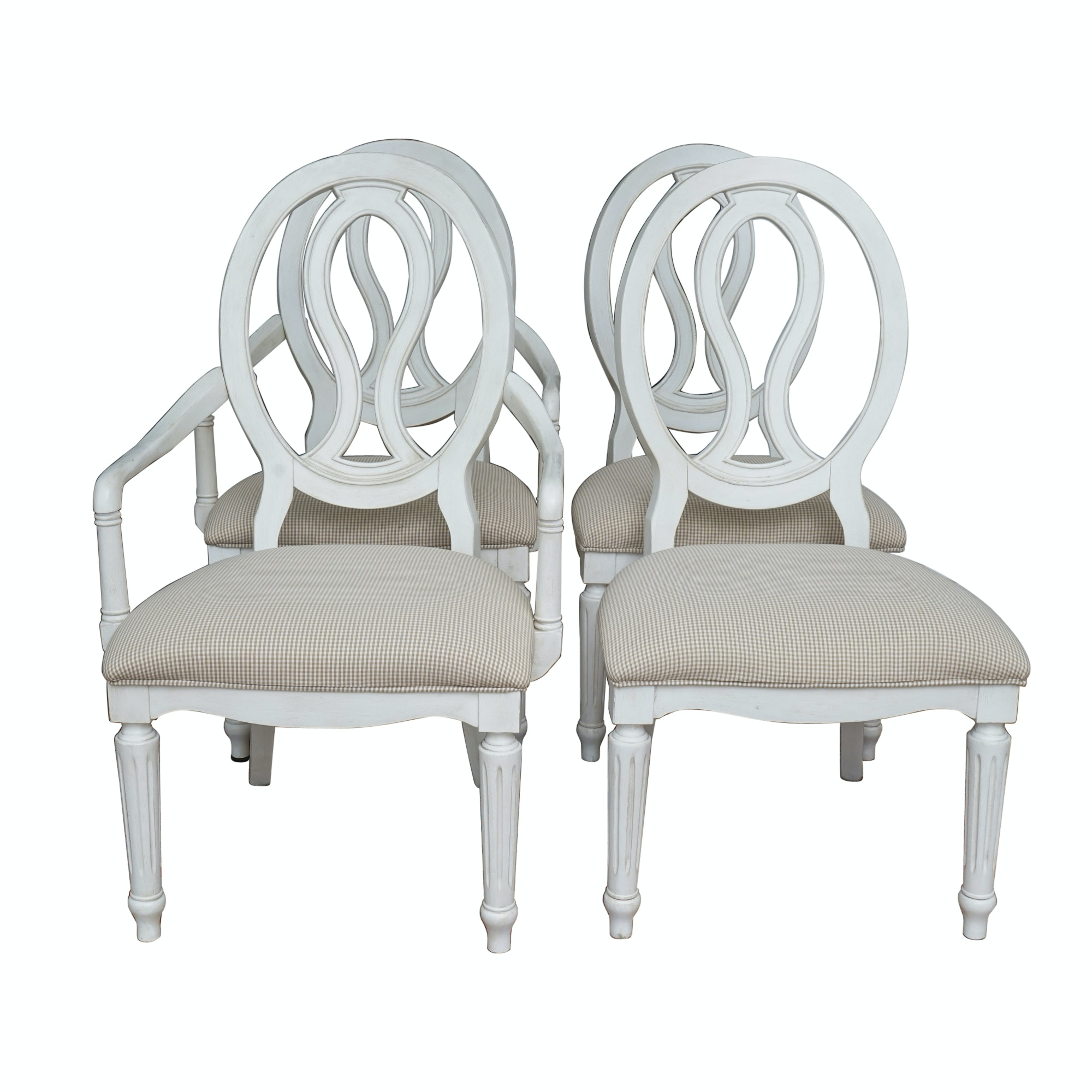 Set of Four Contemporary Sheraton Style Dining Chairs by Universal