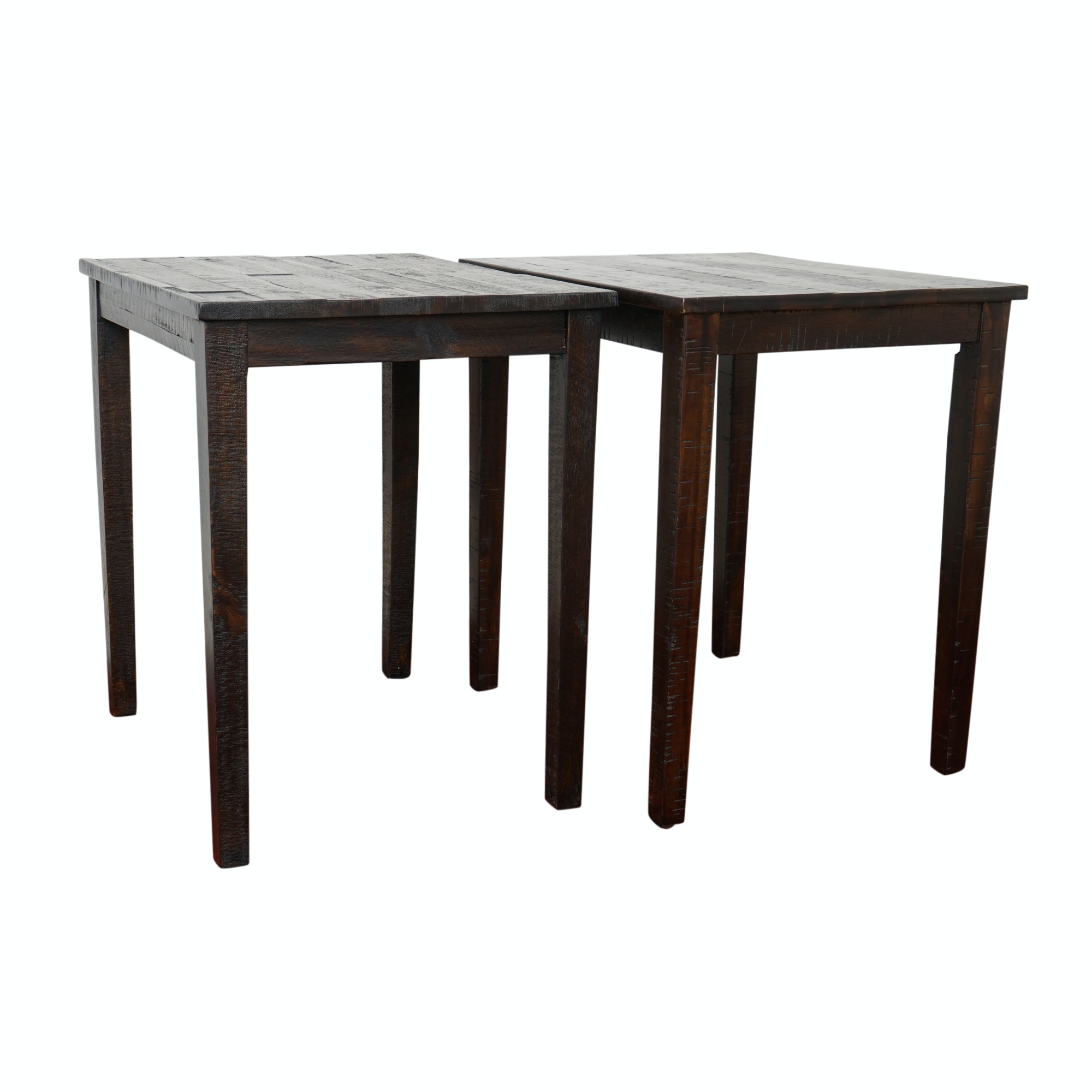 Three Rustic Style Side Tables