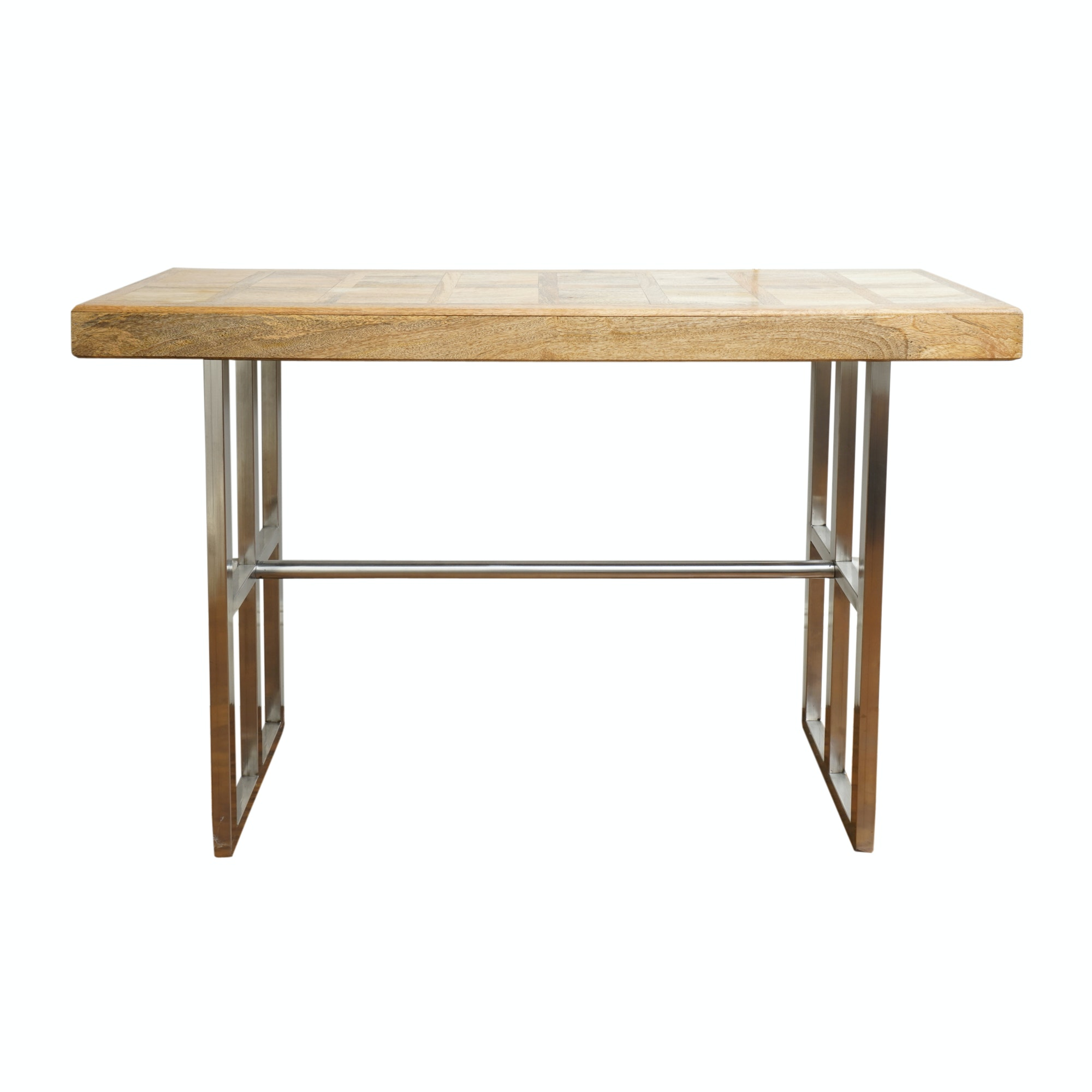 Contemporary Wood and Metal Console Table by Dileep Industries