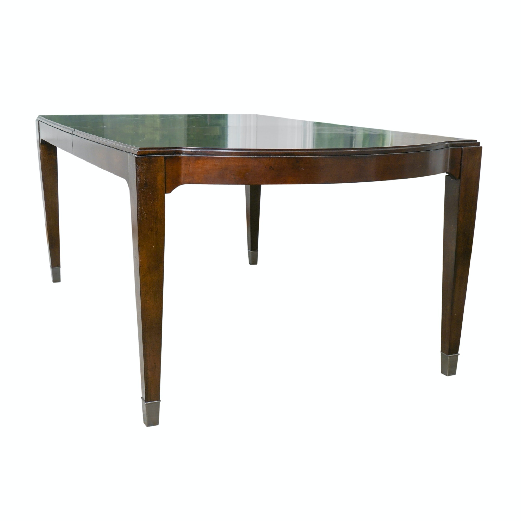 Contemporary Walnut Extension Dining Table by Bassett Furniture