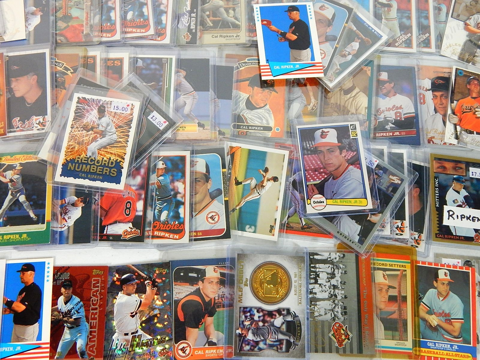 Over 60 Cal Ripken Jr. Cards with Inserts, Rookie Card, More