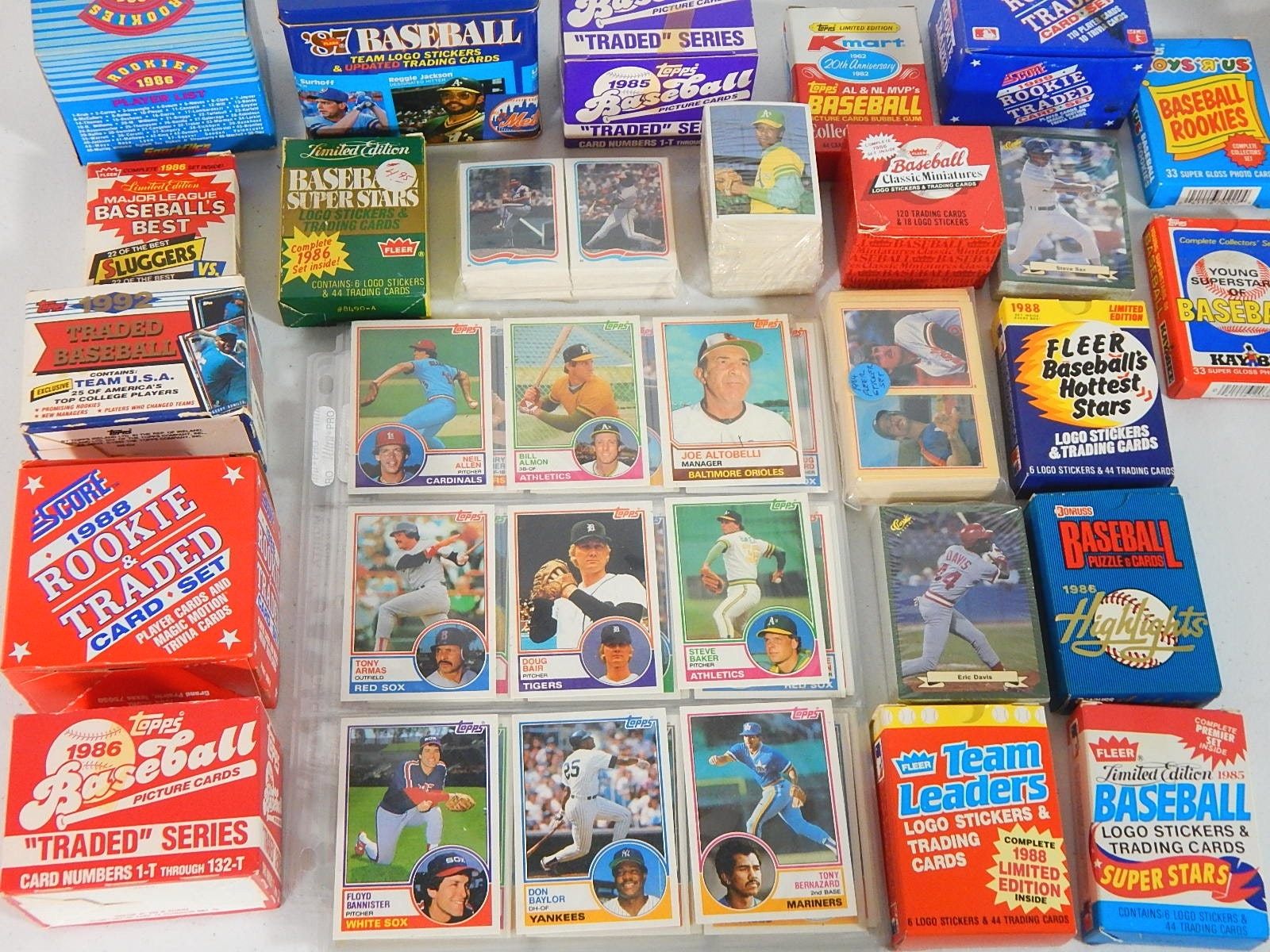 Over 20 Baseball Card Sets from 1983 to 1987