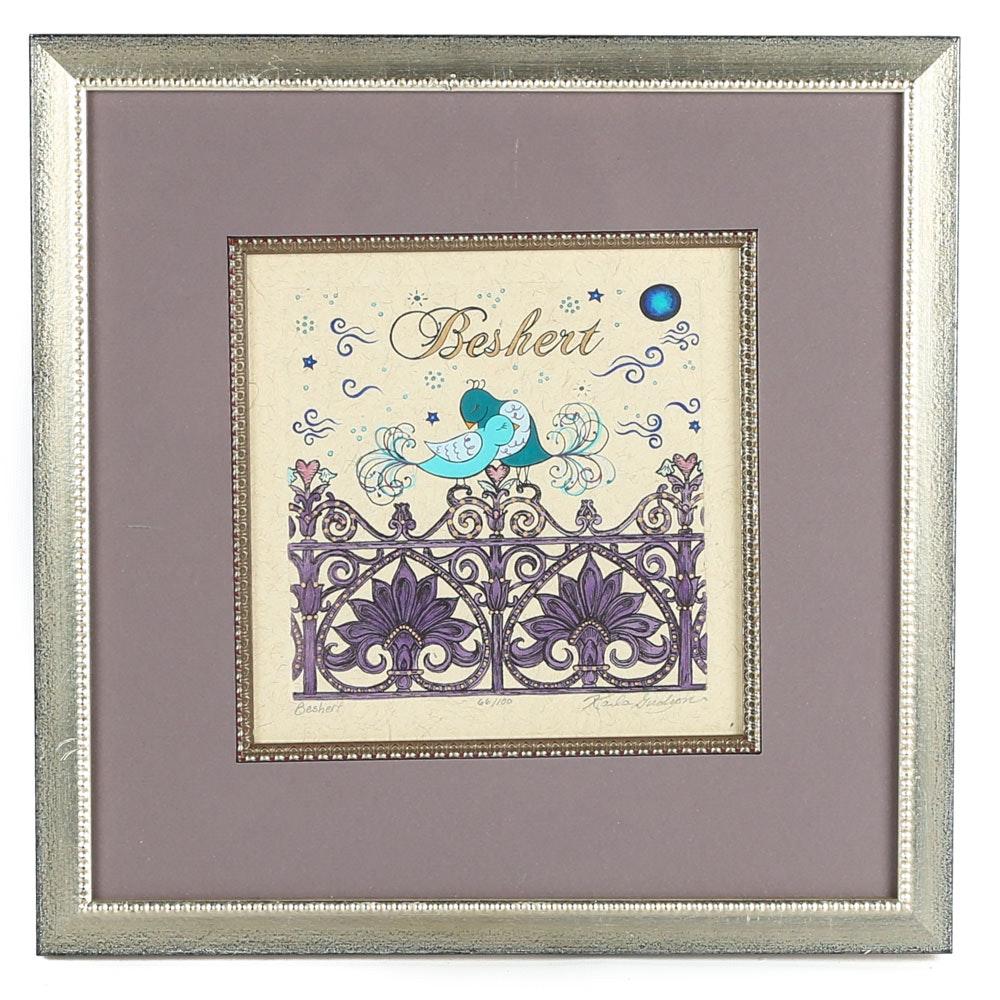 "Karla Gudeon Ltd. Ed. Serigraph on Laid Paper ""Beshert"""