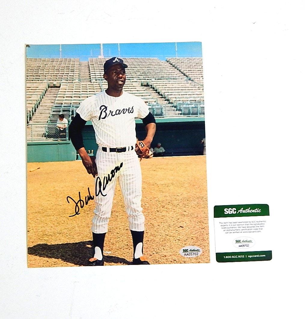 SGC Authenticated HOF Hank Aaron Autograph