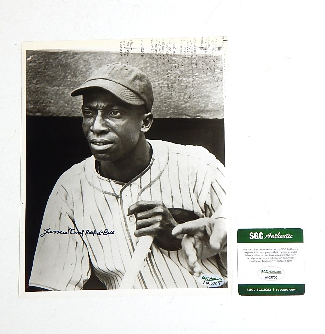 """SGC Authenticated James """"Cool Papa"""" Bell Autograph"""