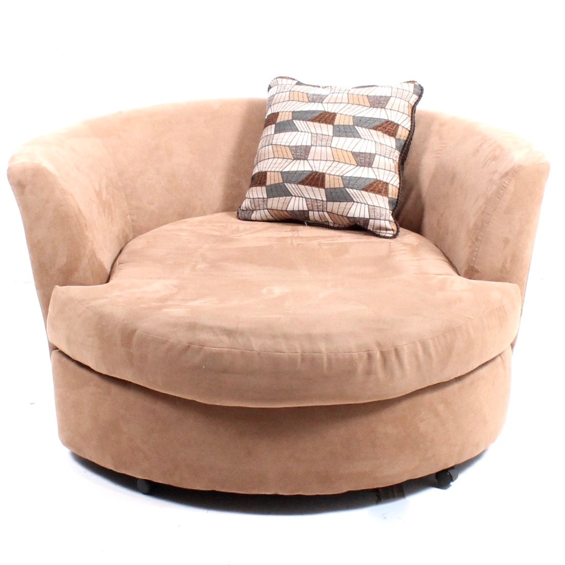 Oversize Micro-Suede Lounge Chair