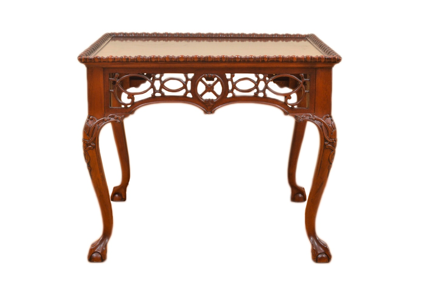 Vintage Chippendale Style Carved and Pierced Side Table by Wellington Hall