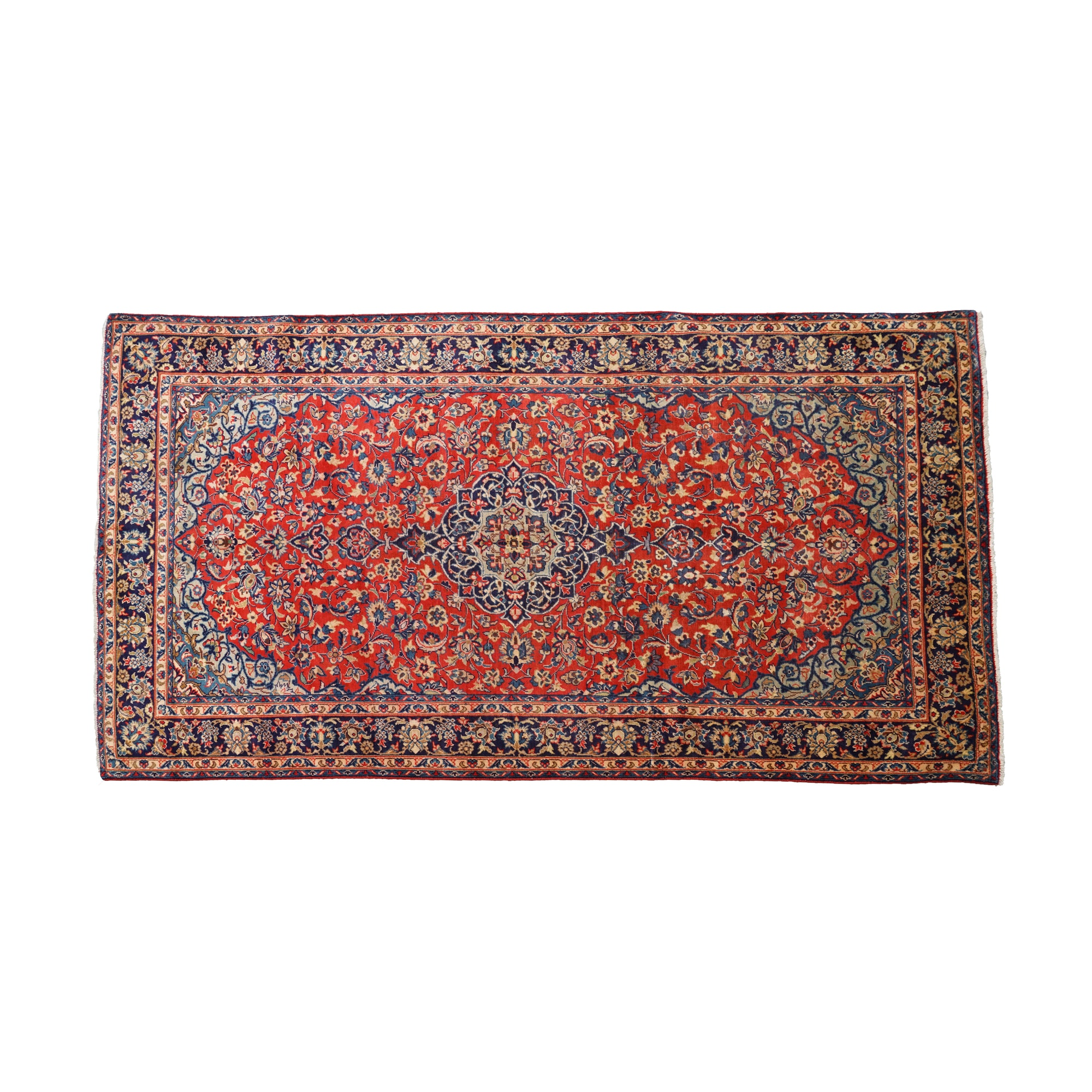 Hand-Knotted Persian Kashan  Area Rug