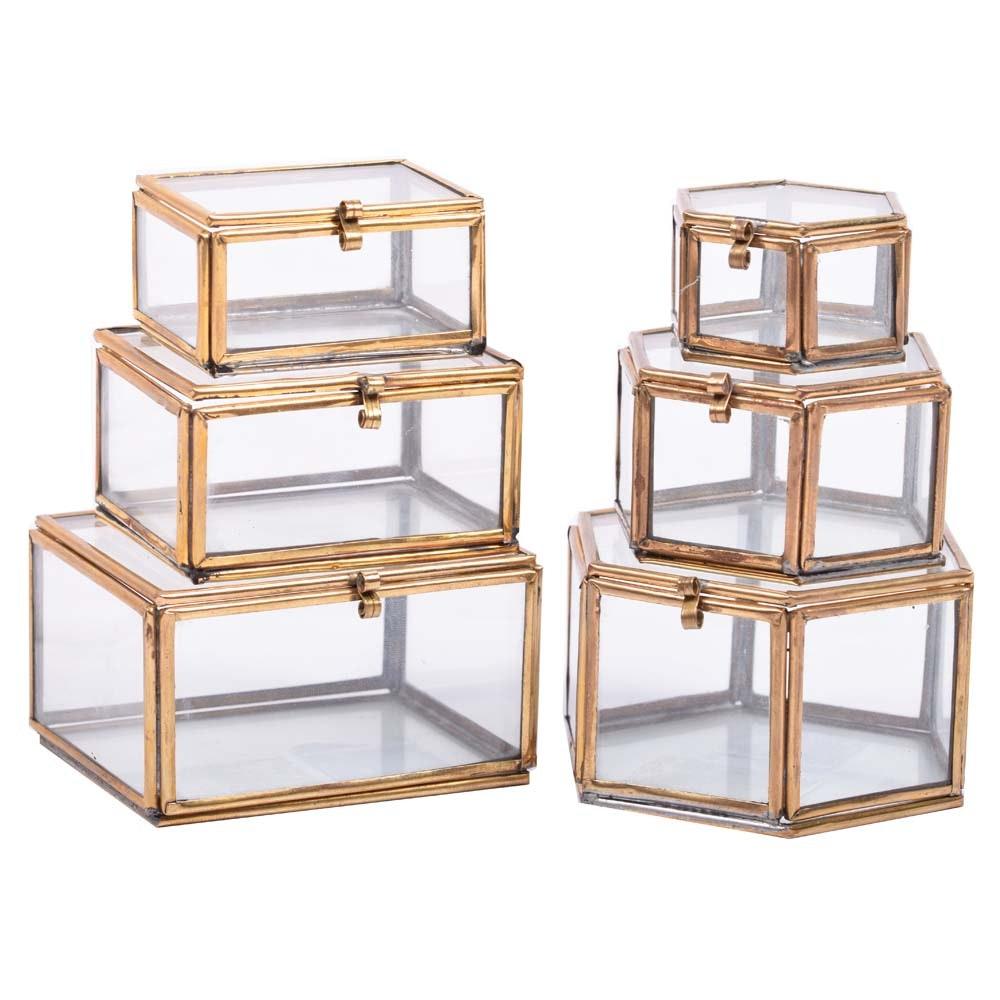 West Elm Miniature Curio Boxes