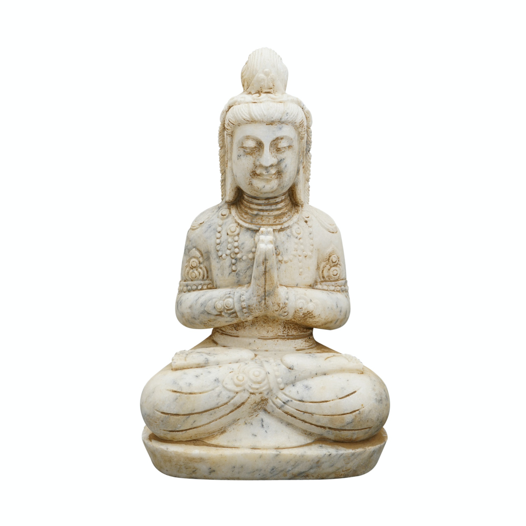 Carved Stone Buddha Sculpture