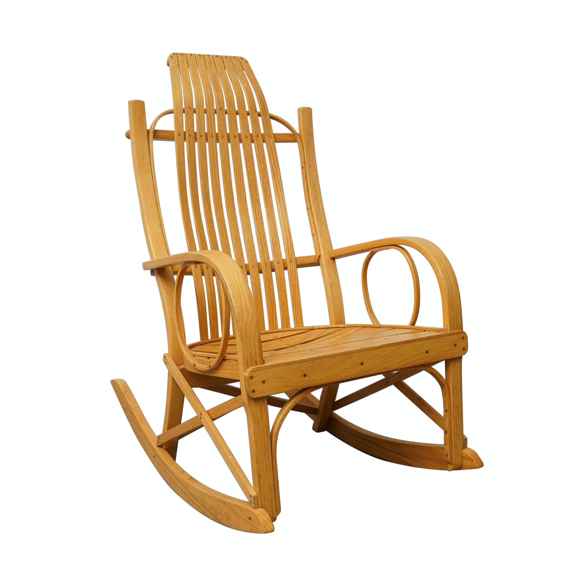 Amish Bentwood Hickory Rocking Chair