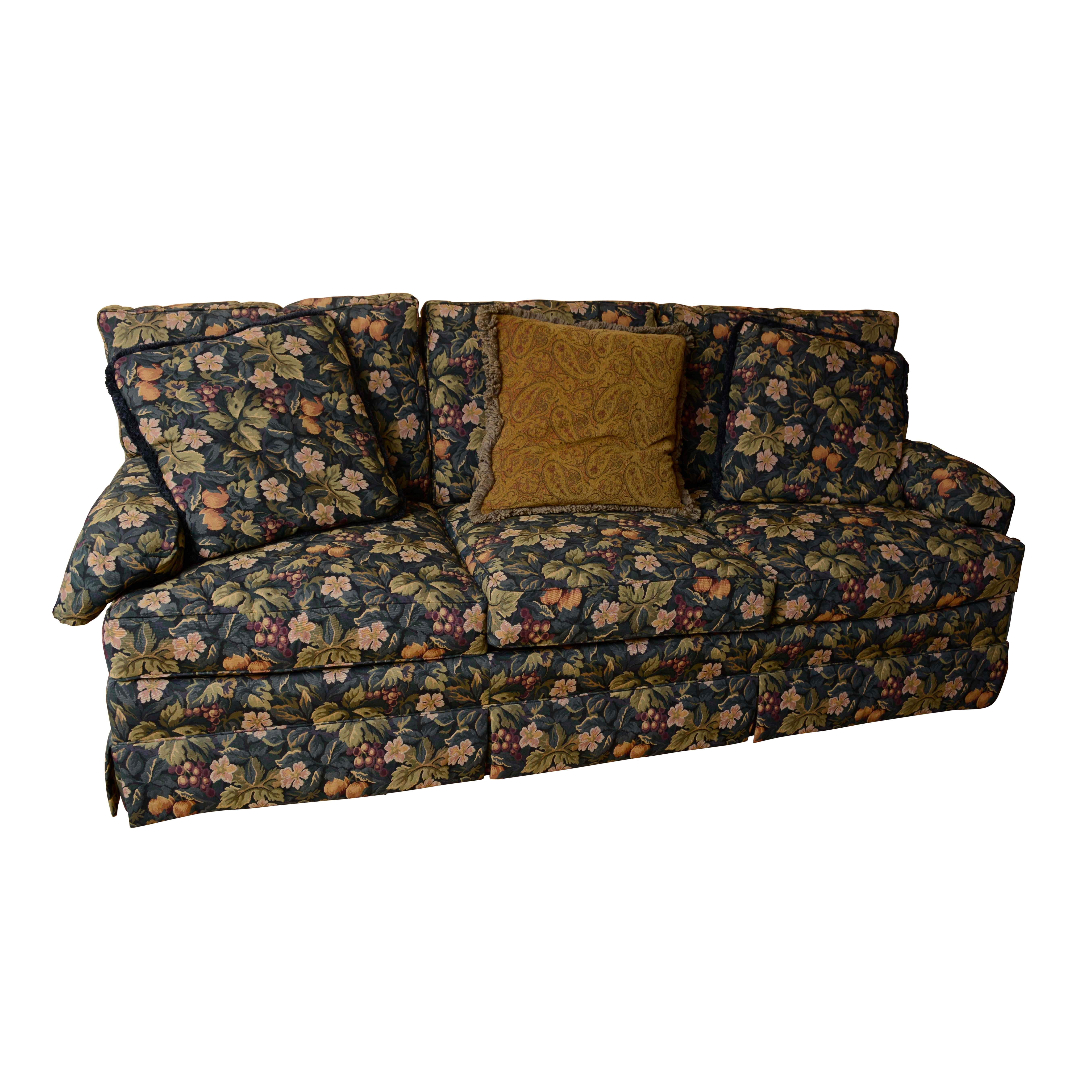 Fruit and Foliage Upholstered Sofa by Hickory Furniture
