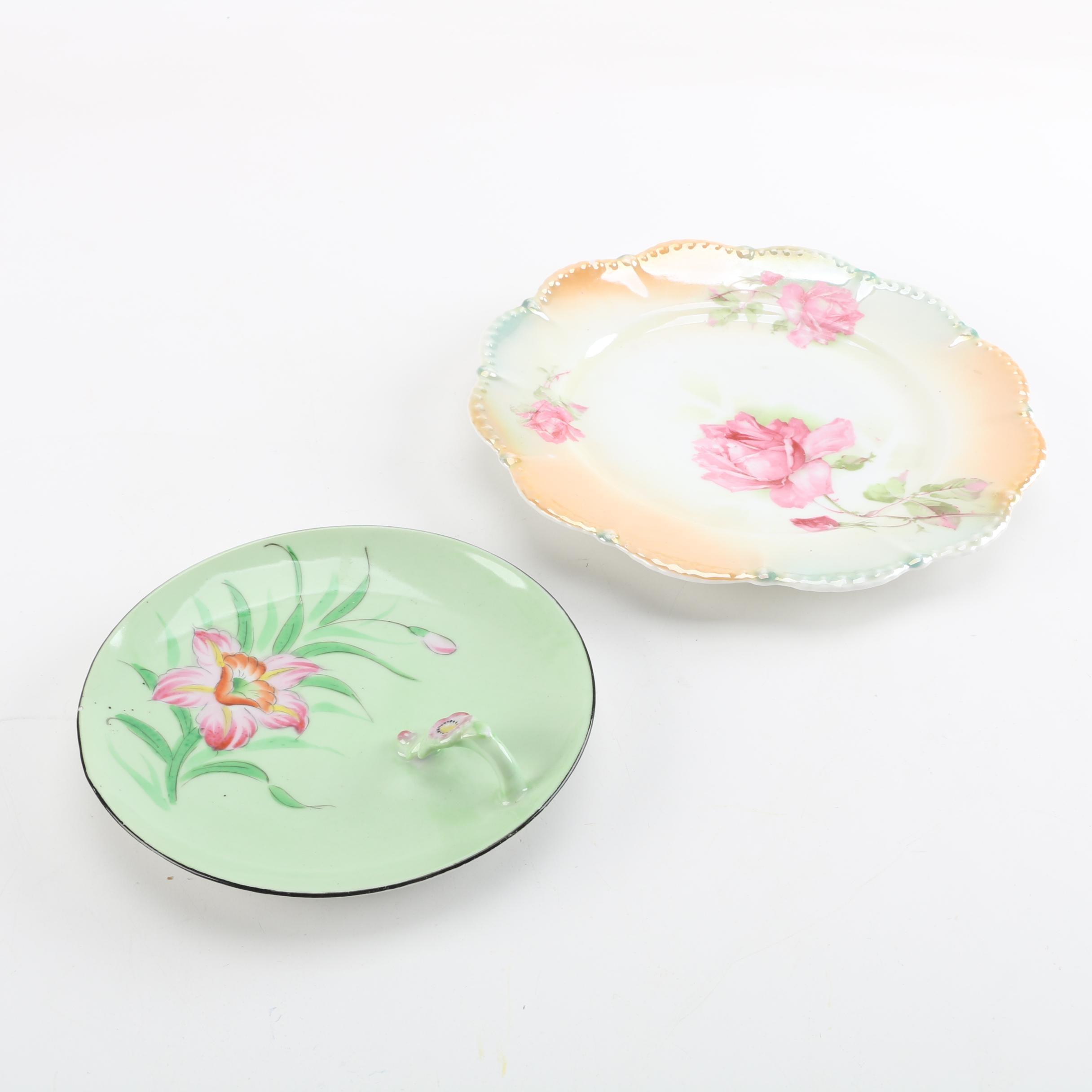 Vintage Floral Porcelain Plates