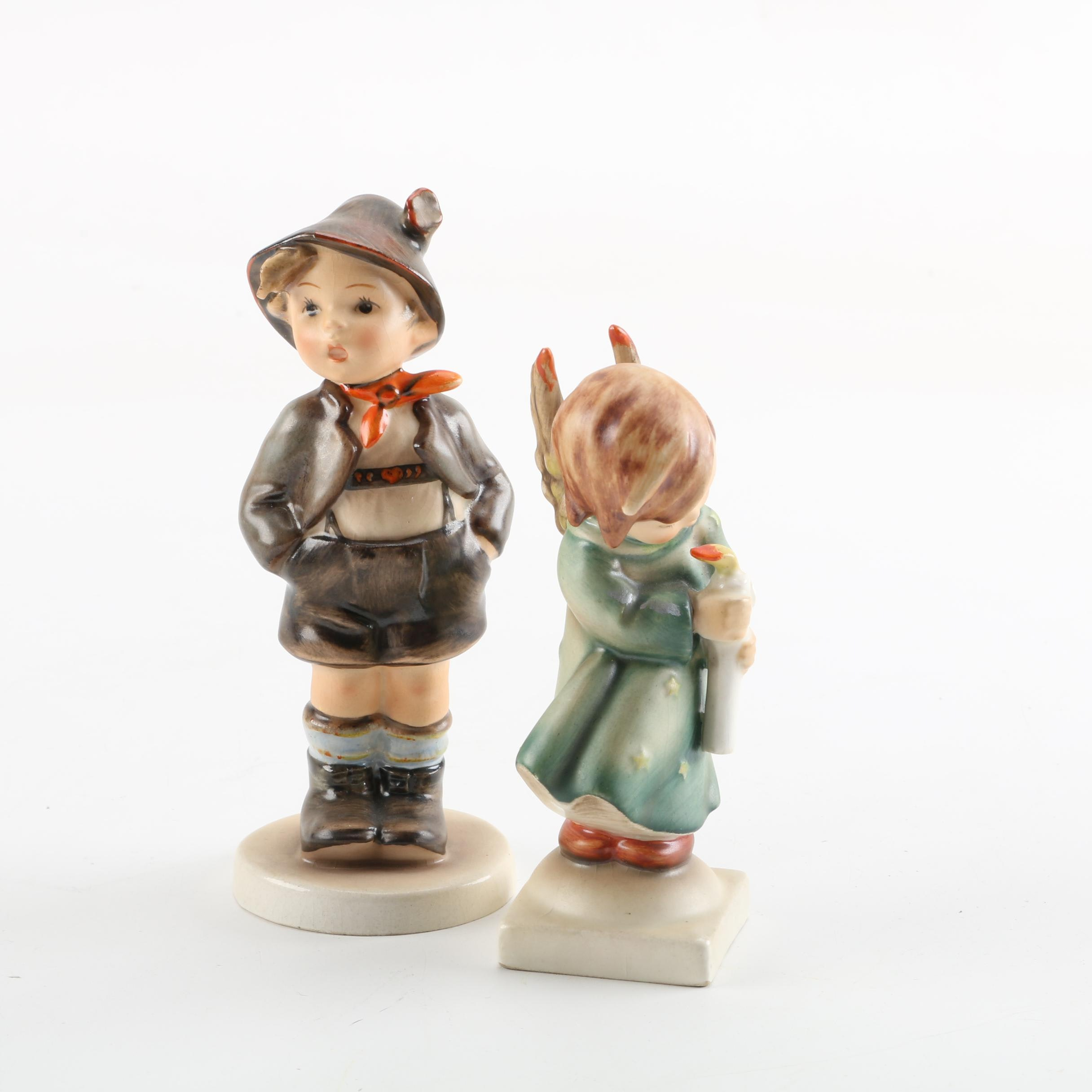 "Hummel Figurines ""Heavenly Angel"" and ""Brother"""