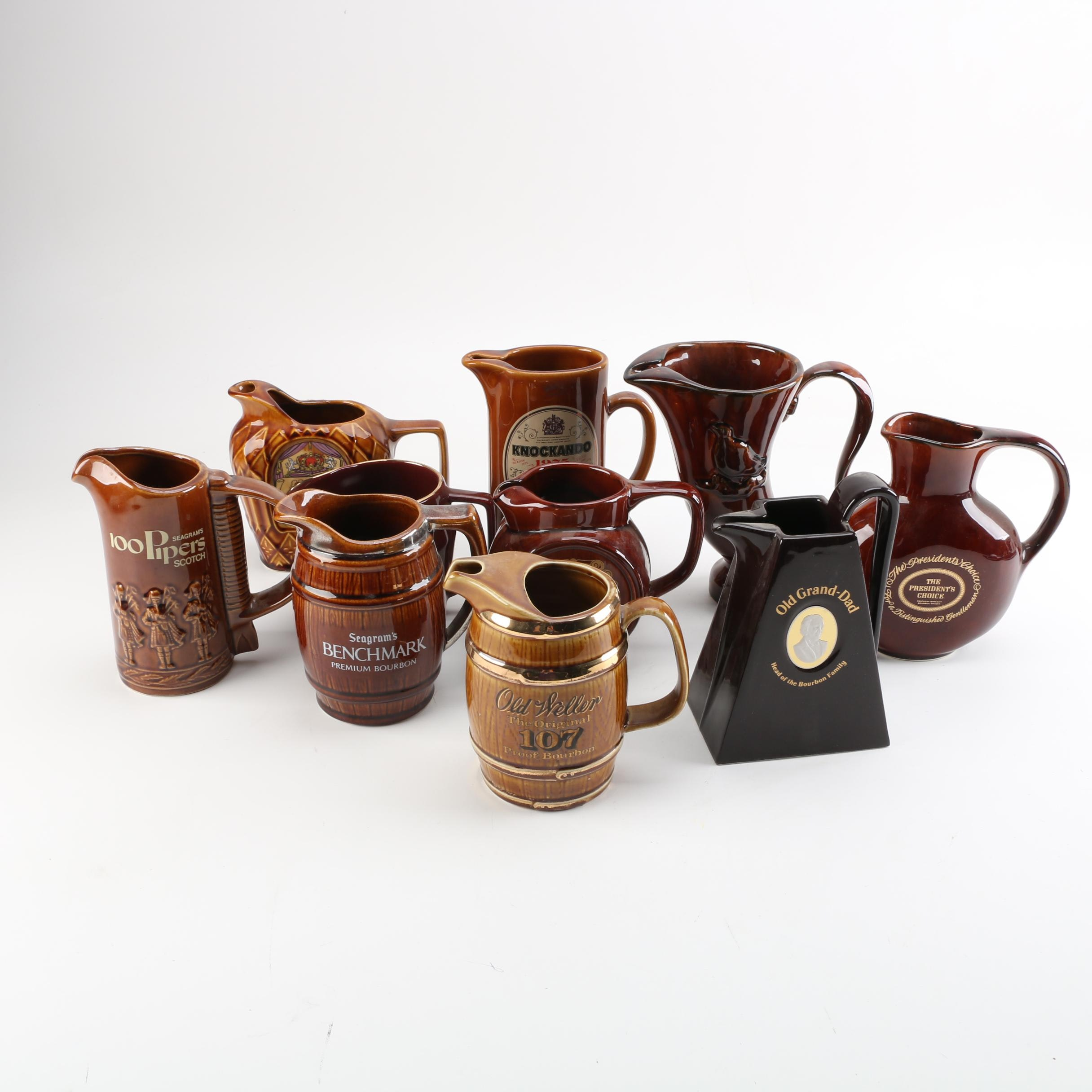 Whiskey Pitchers, Including Old Grand-Dad, Knockando, Old Weller and More