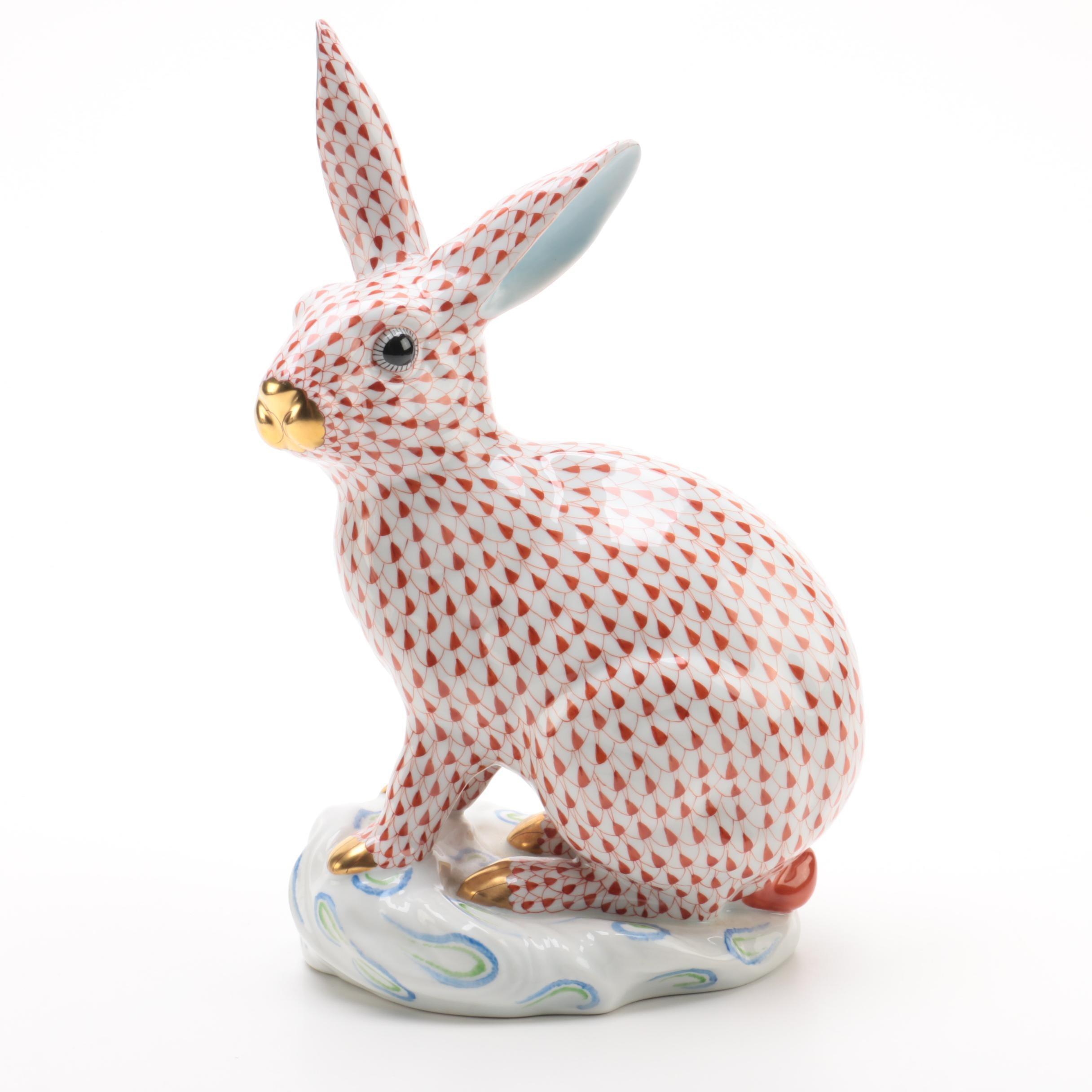 "Herend Large ""Sitting Rabbit"" Figurine"
