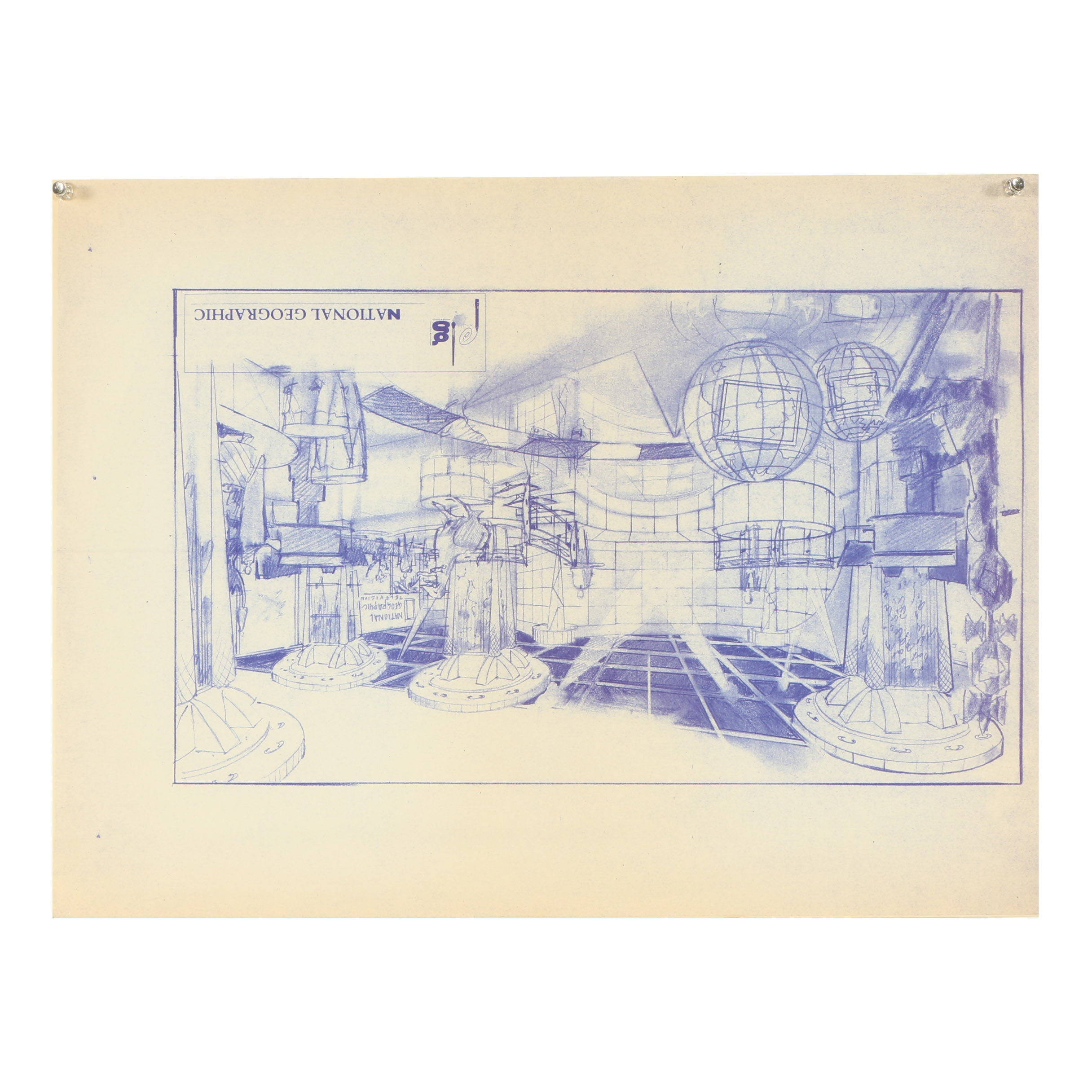 Ricardo Morin Giclée of Architectural Sketch