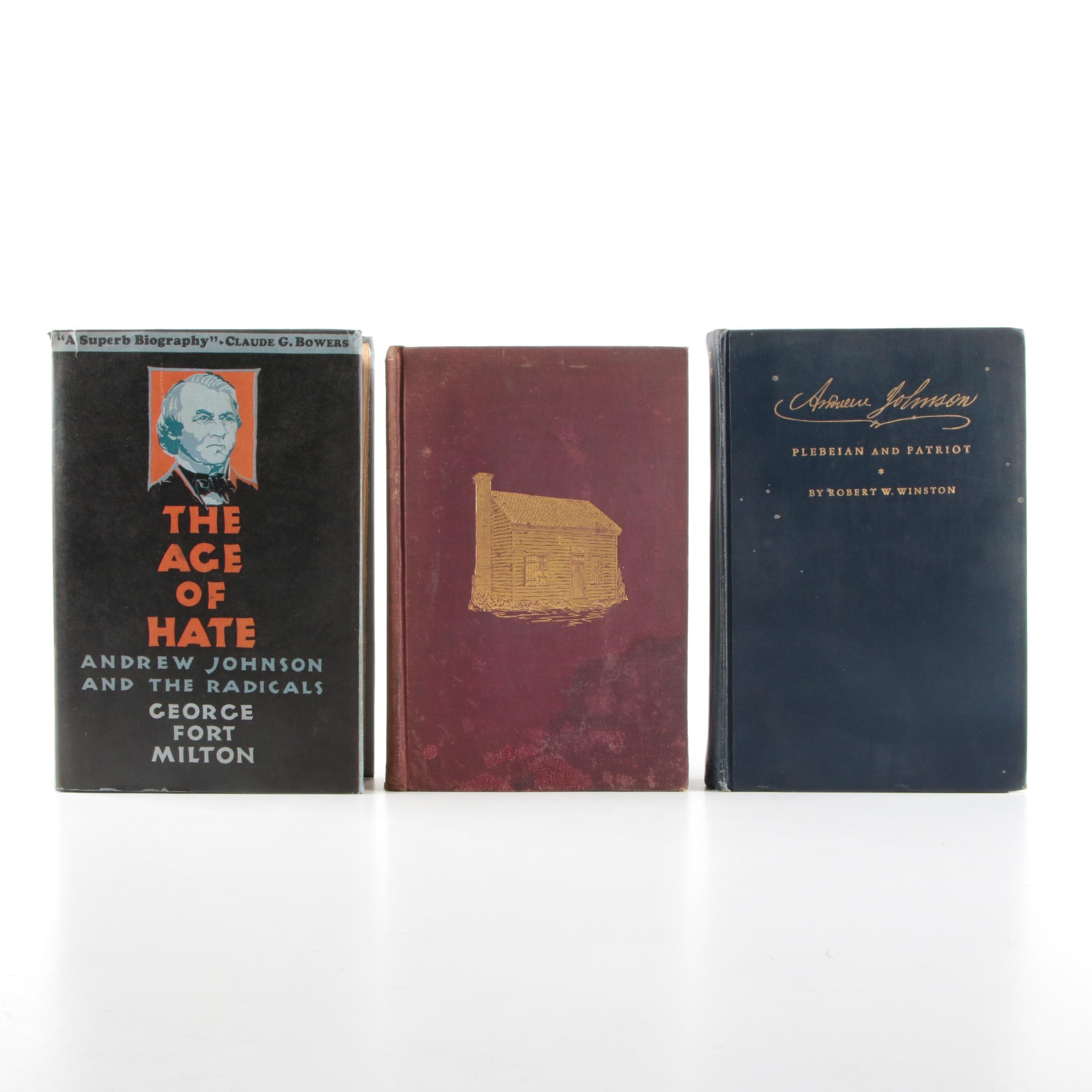 Three Early 20th-Century Books on Andrew Johnson