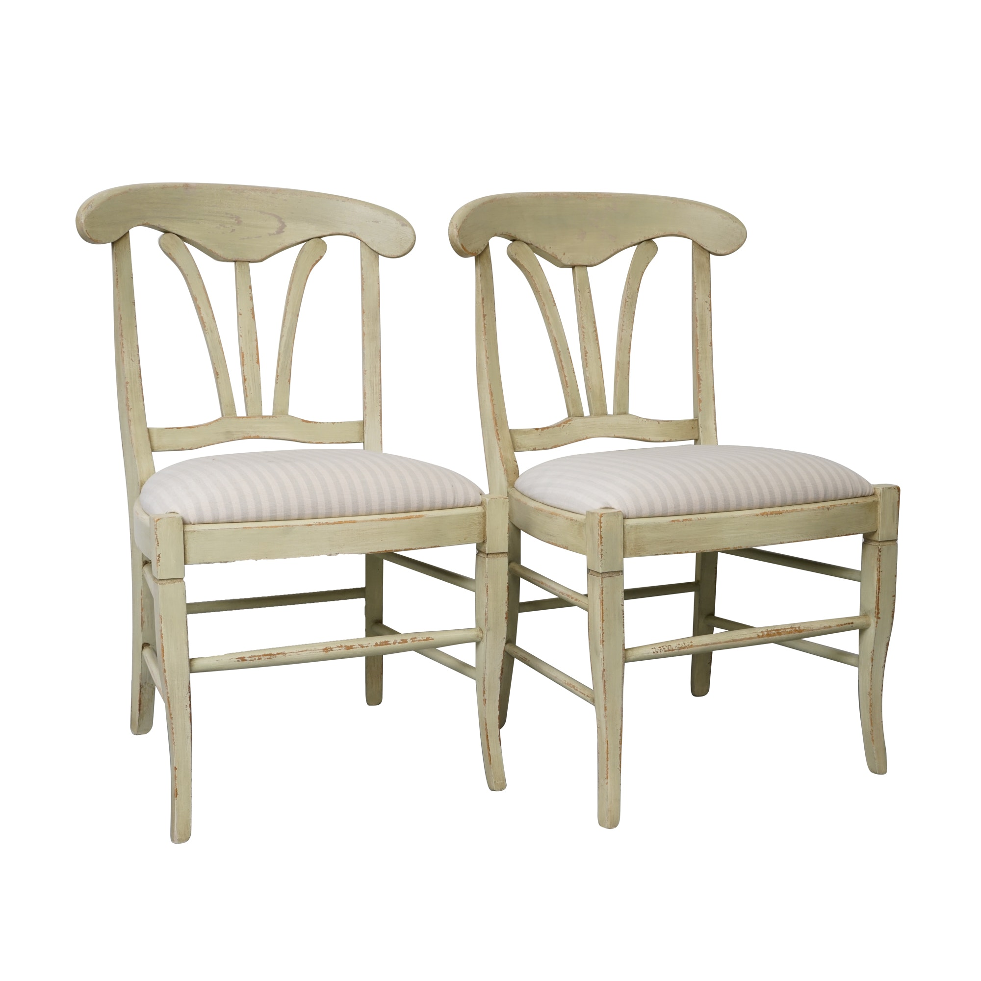 Italian Distress Painted Side Chairs