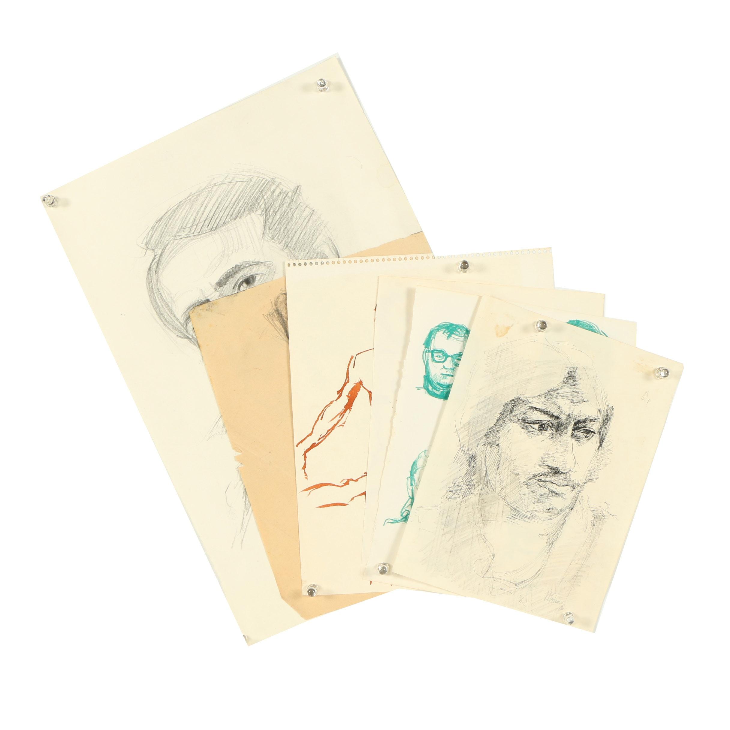 Ricardo Morin Mixed Media Sketches