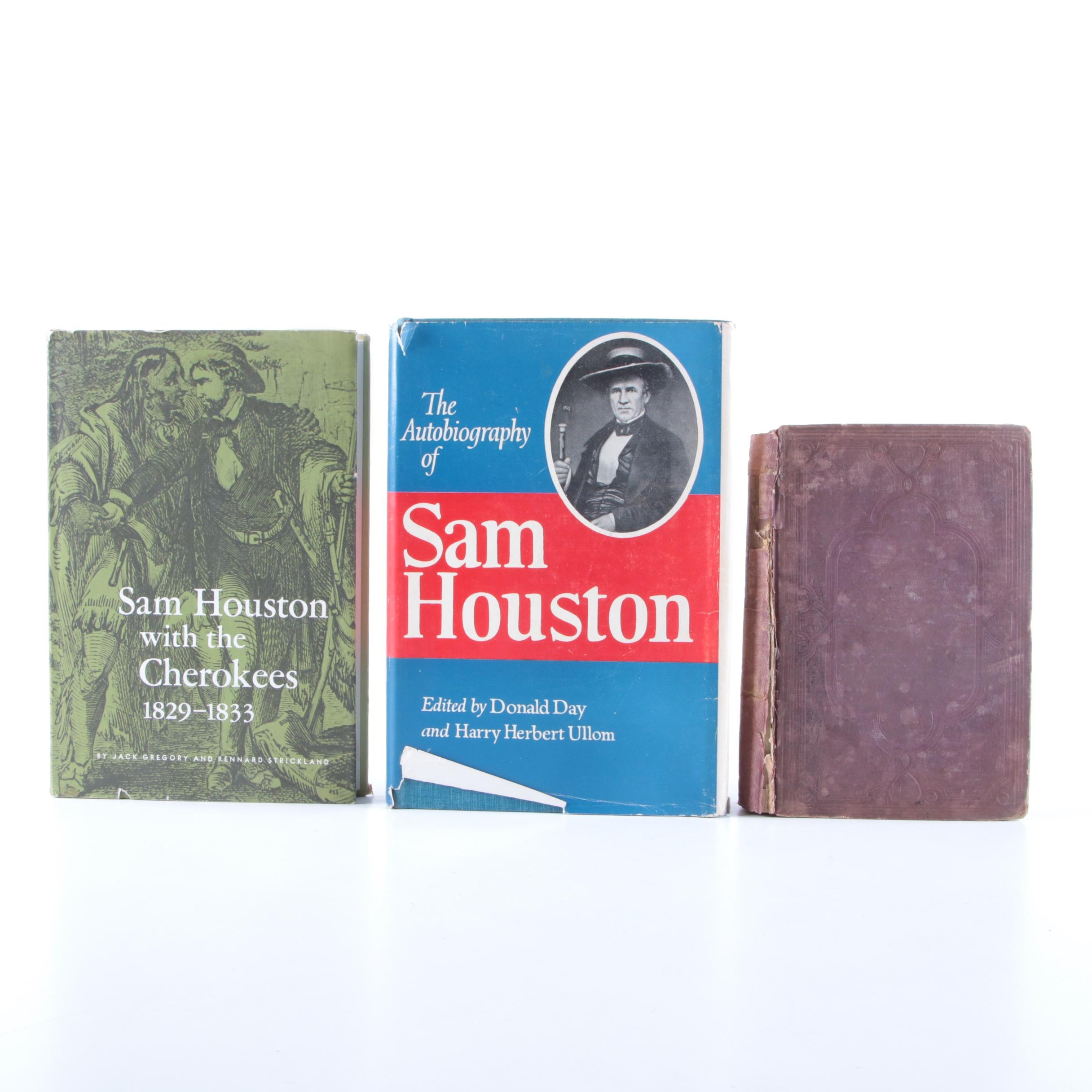 Three Historical and Biographical  Books on Sam Houston