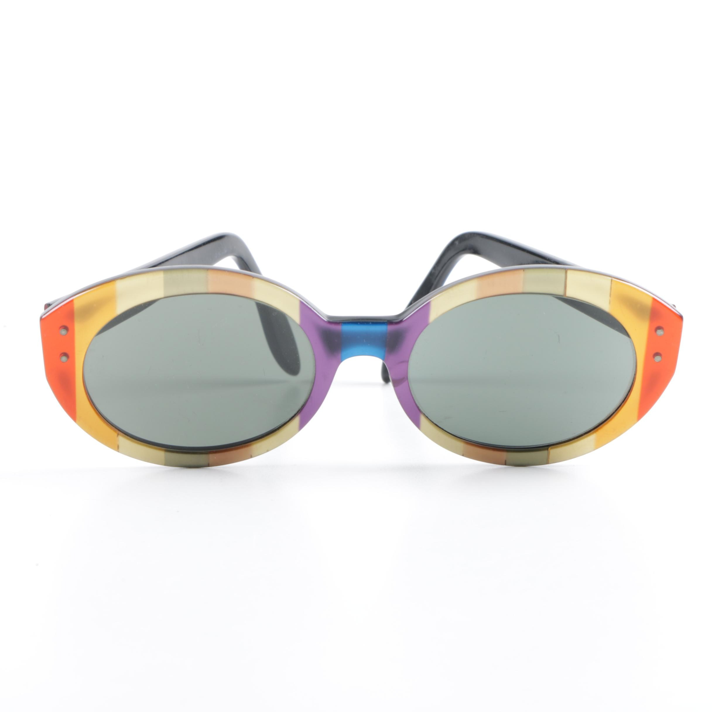 1960s Vintage B&L Ray-Ban Bewitching Rainbow Stripe Sunglasses