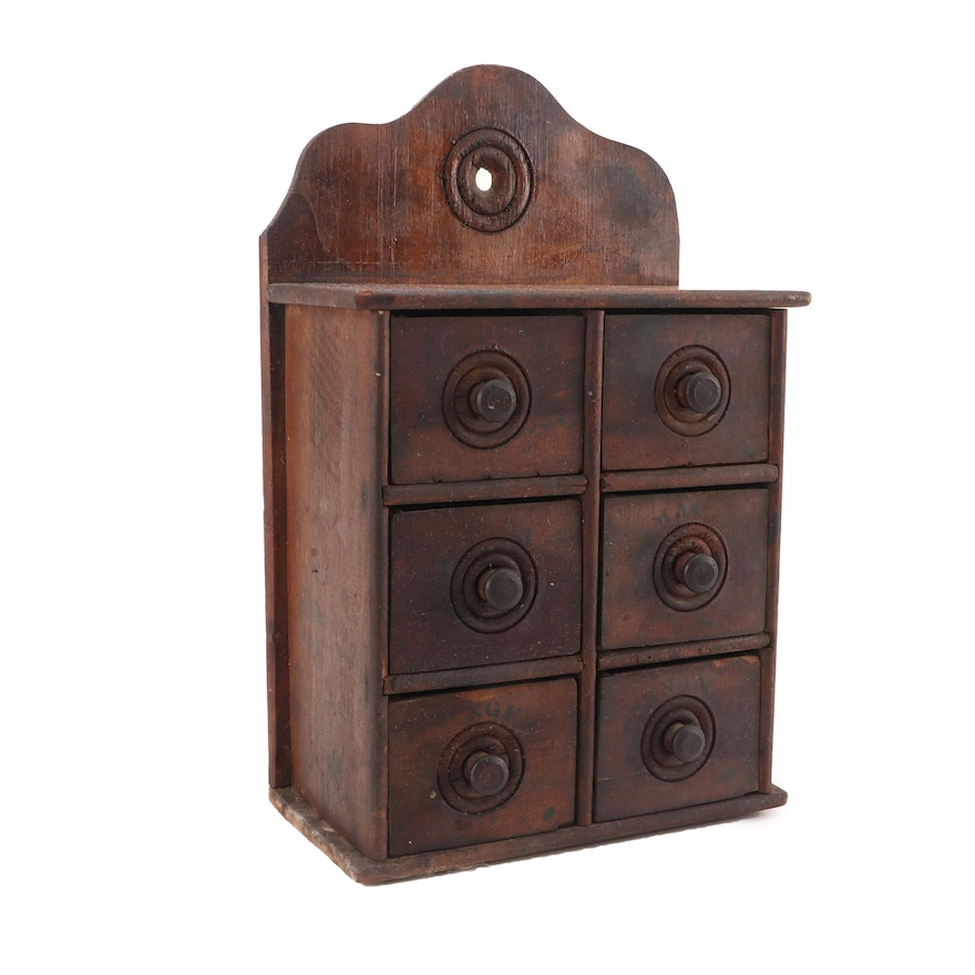 Antique Wooden Spice Cabinet ... - Antique Wooden Spice Cabinet : EBTH