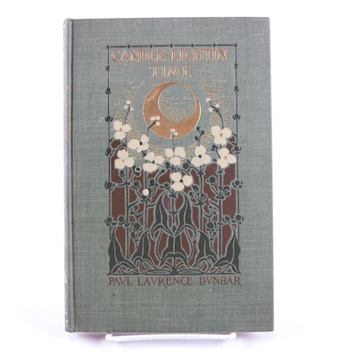 """1901 First Edition """"Candle-Lightin' Time"""" by Paul Laurence Dunbar"""
