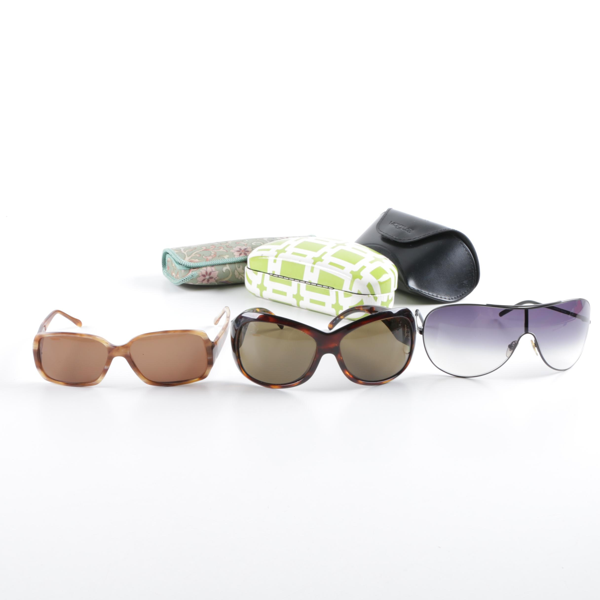 Women's 1990s Oversized Sunglasses, Including Vogue and France Luxe