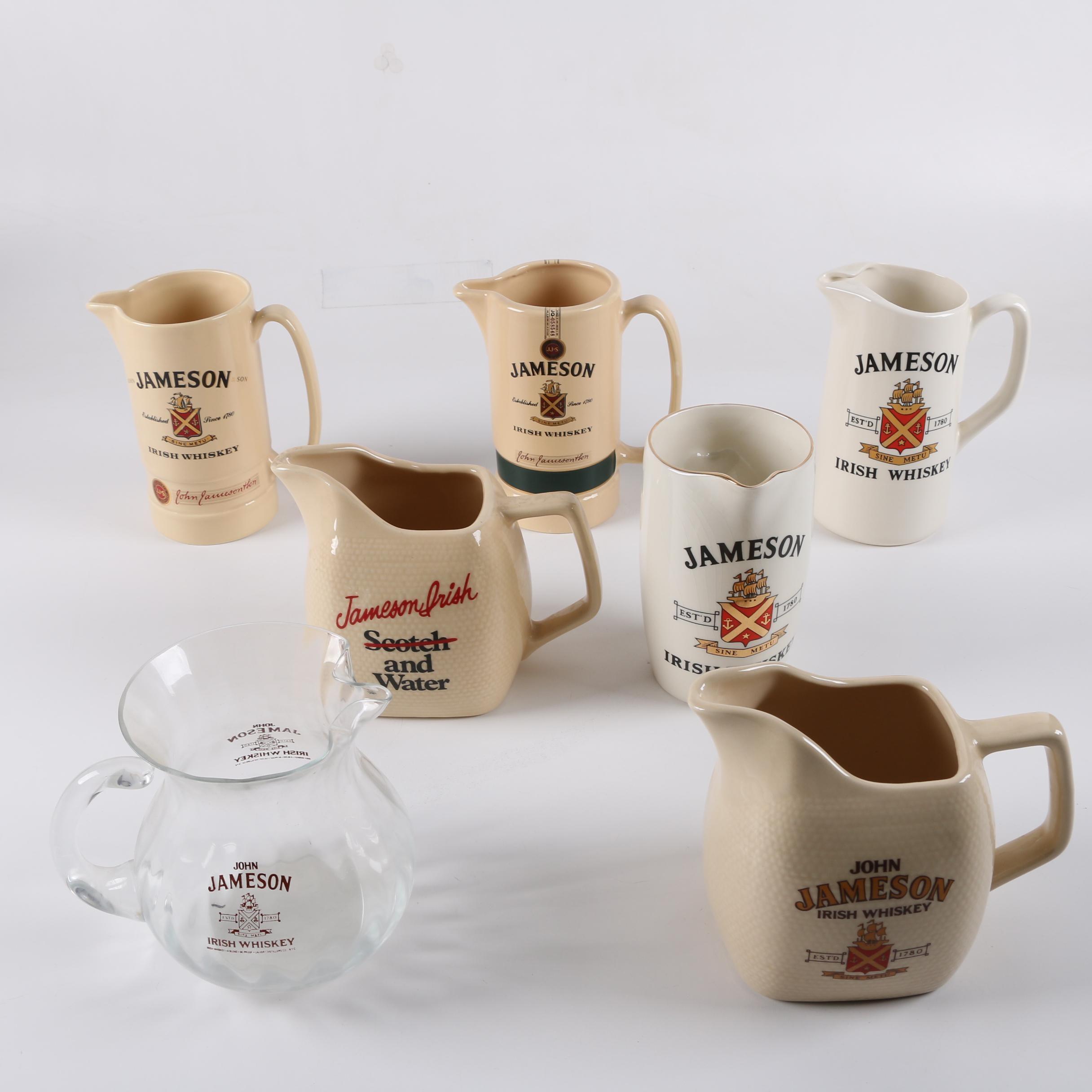 Vintage Pitchers Advertising Whiskey