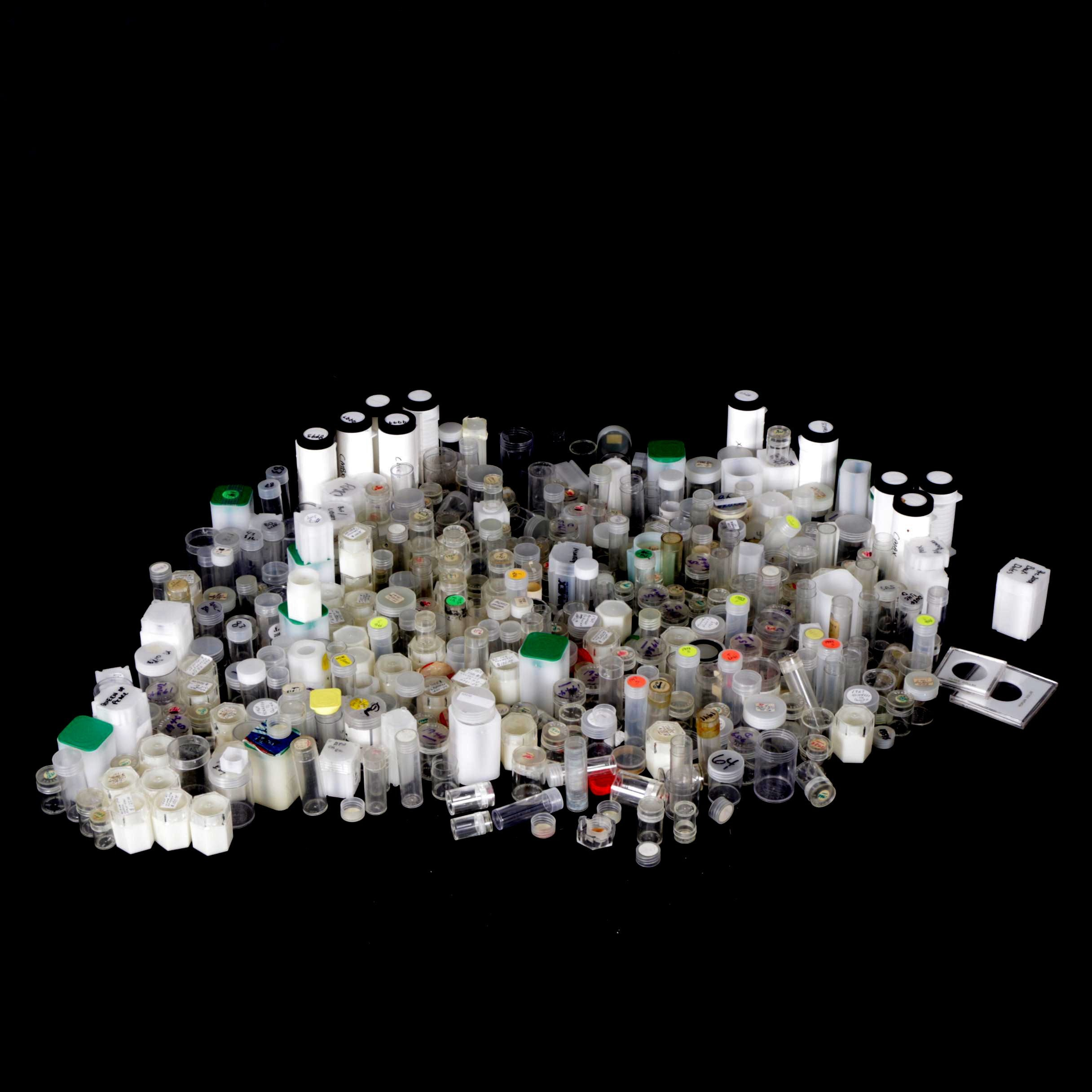 Plastic Coin Tubes and Other Bottles