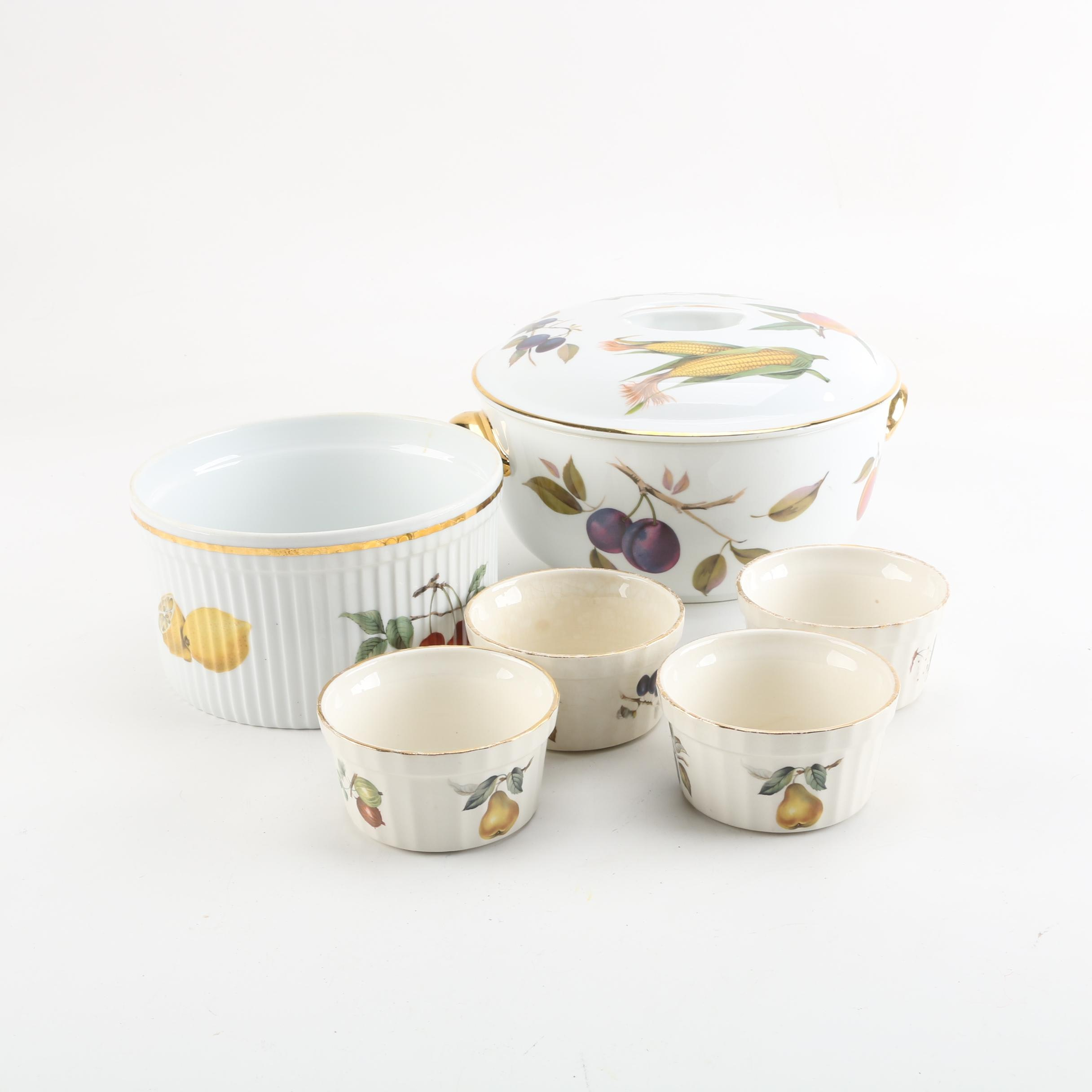"Royal Worcester ""Evesham"" and Crown Devon Oven to Tableware"