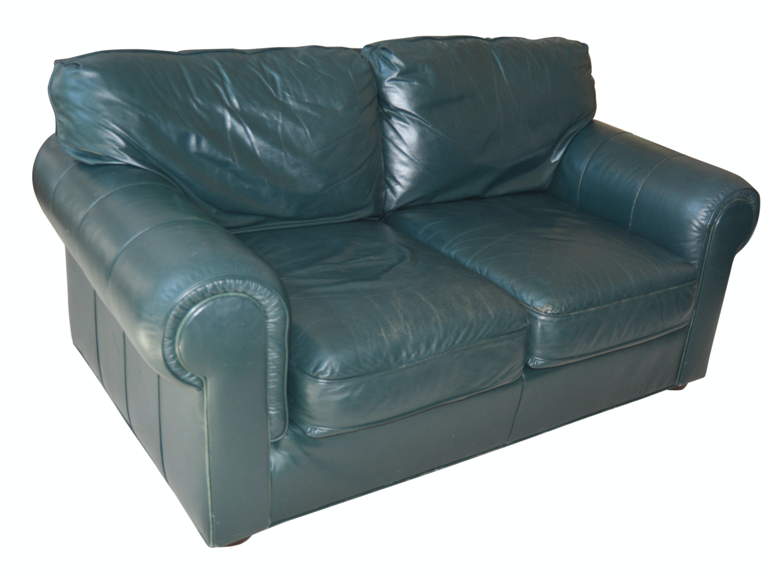 Leathercraft Forest Green Loveseat