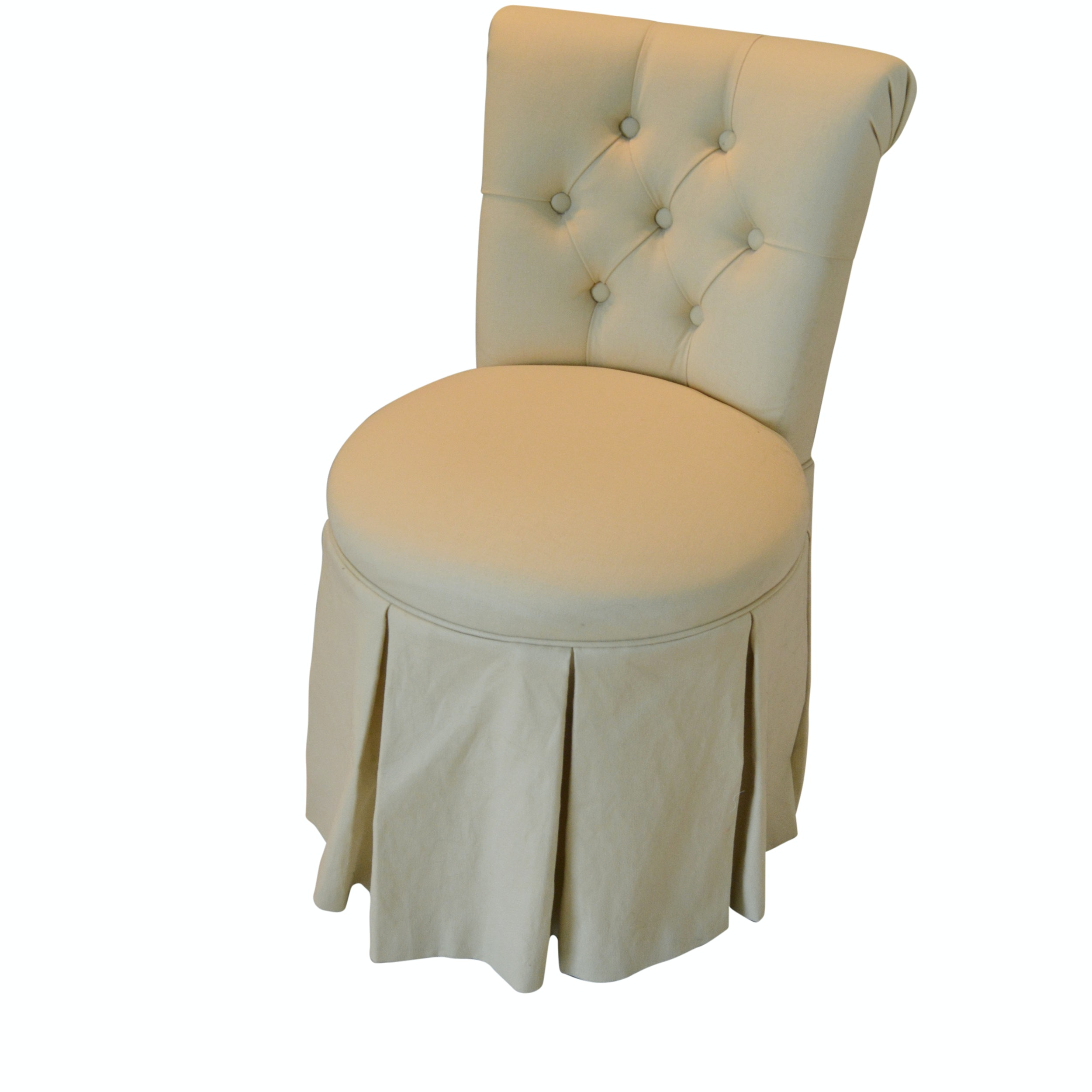 Tufted Back Vanity Swivel Chair