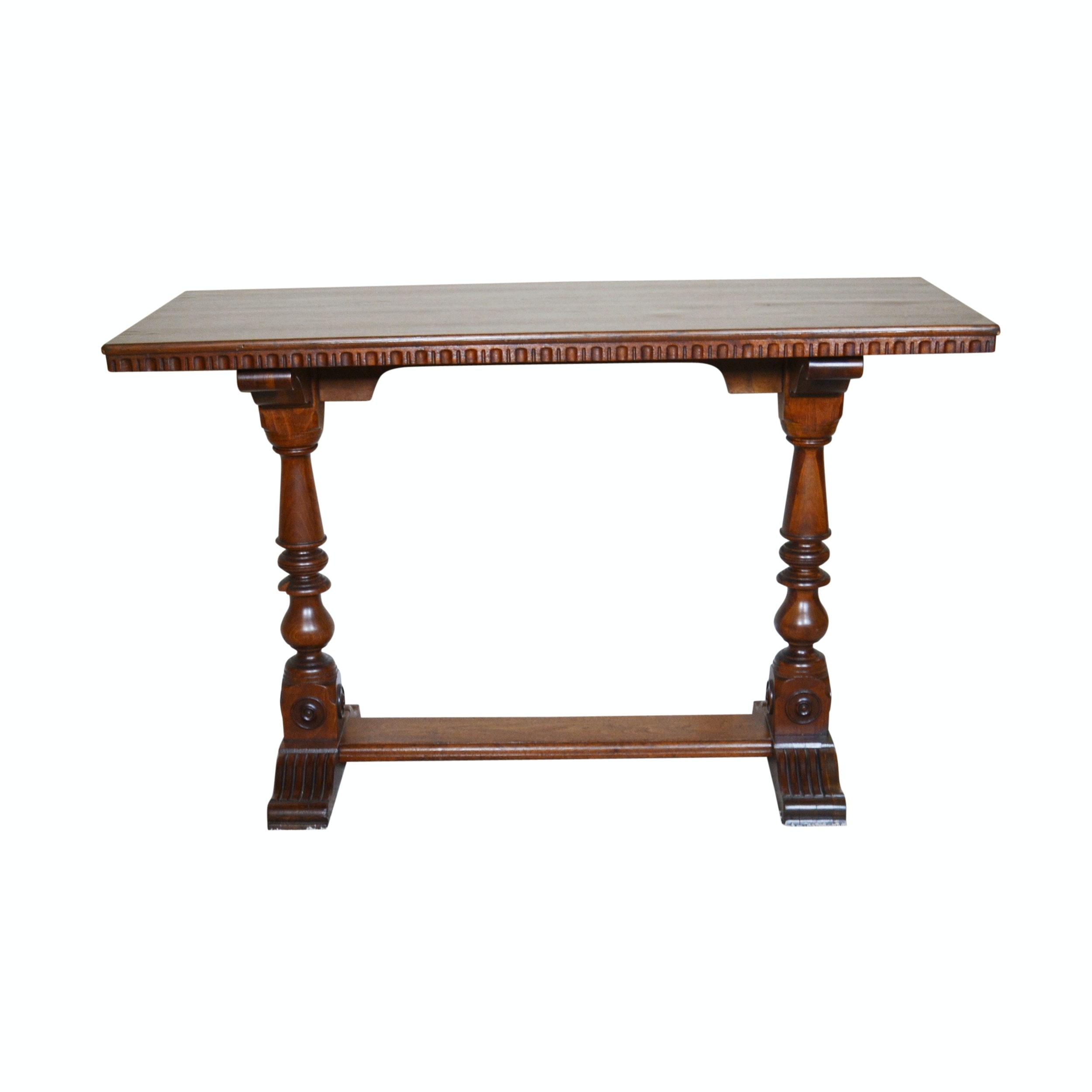 Mahogany Veneer Console Table