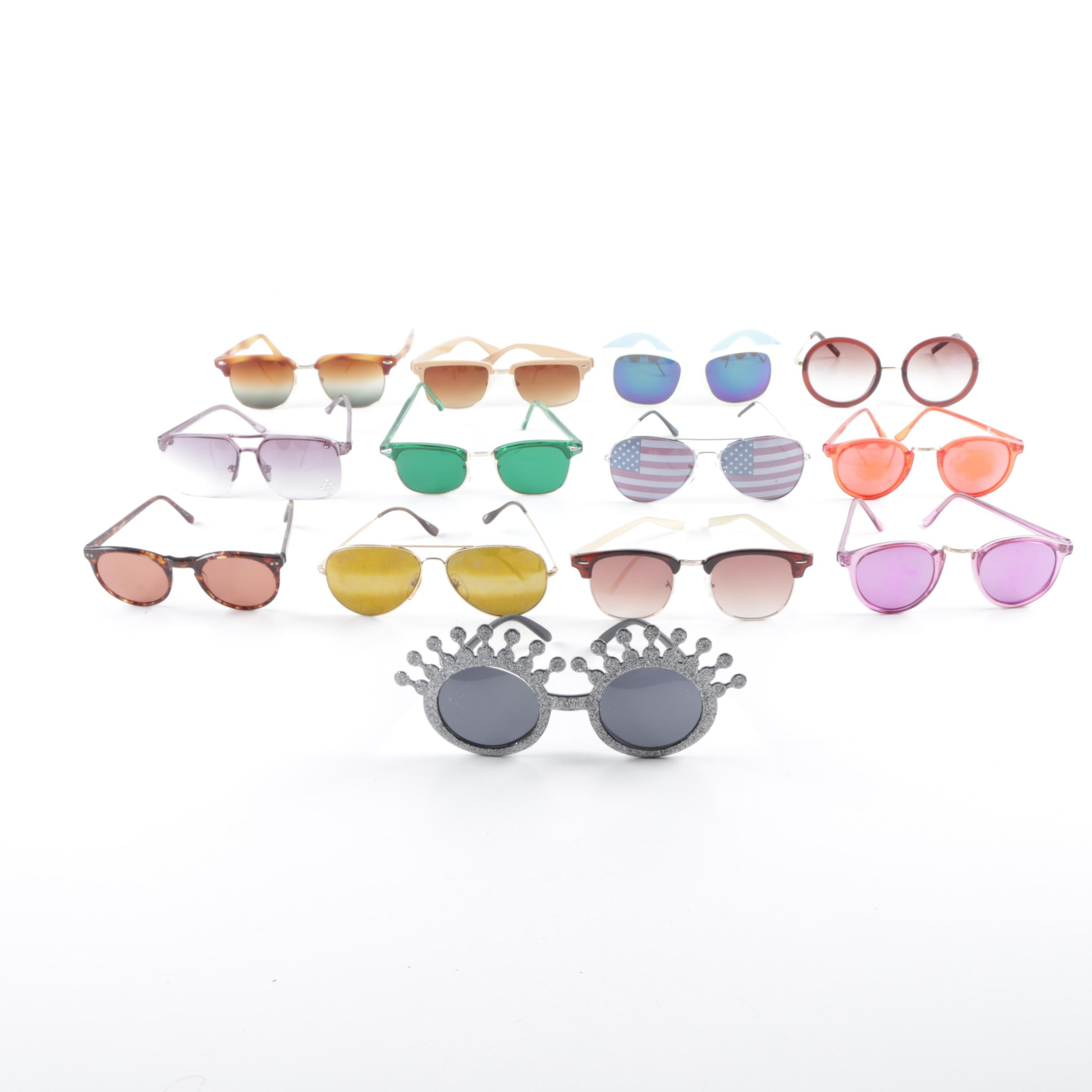 Vintage Round, Browline and Avant Garde Sunglasses
