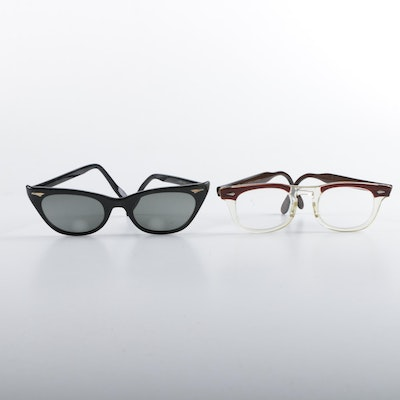 978794f5731f 1950s Vintage American Optical and Hudson Eyeglasses and Sunglasses