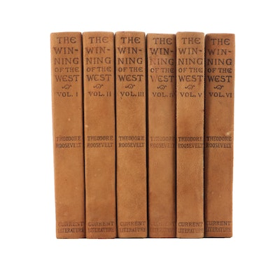 """1905 Six Volume """"The Winning of the West"""" by Theodore Roosevelt"""