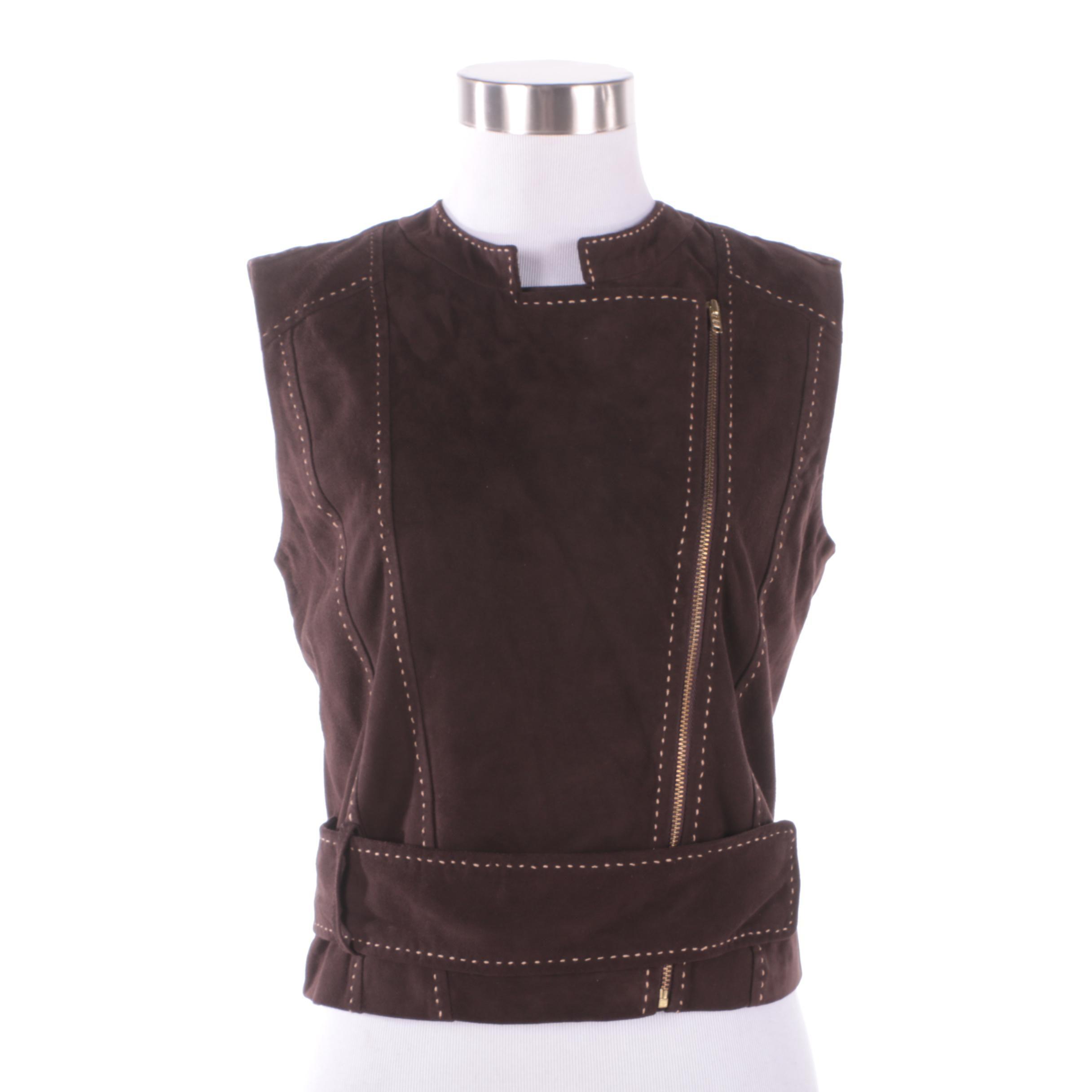 Women's Tamara Mellon Dark Brown Goat Suede Vest