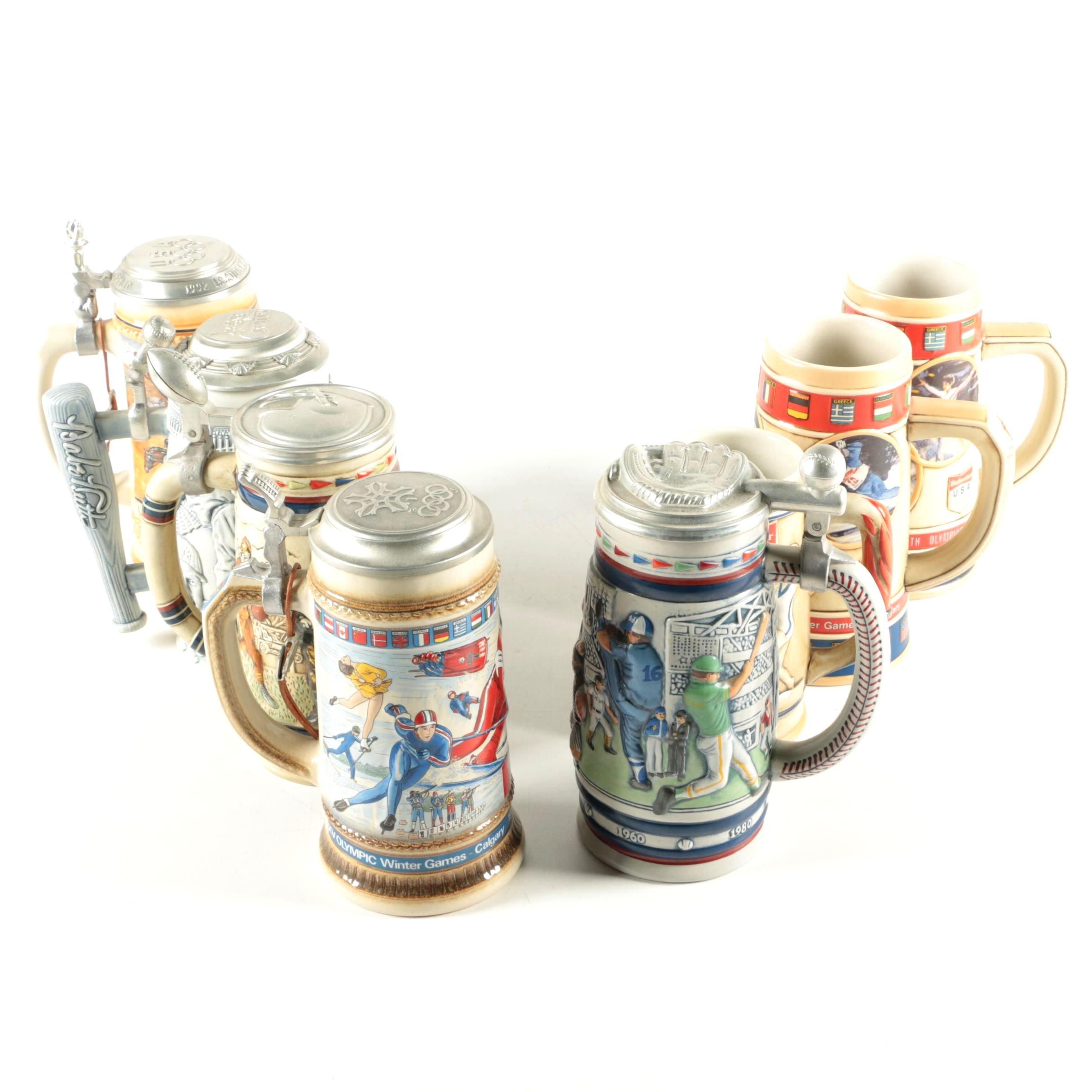 Anheuser-Busch, Avon, and Gerz Beer Steins