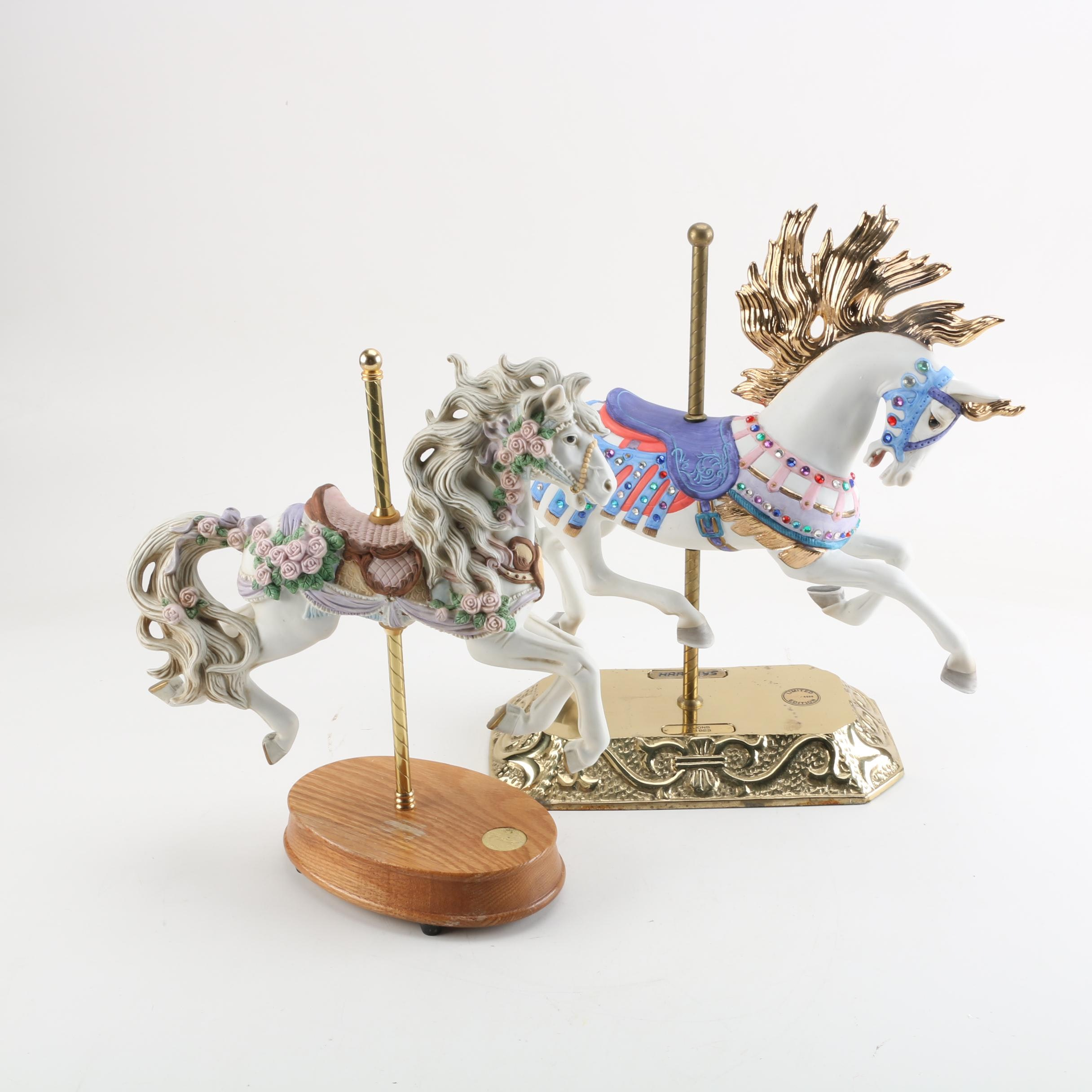 Limited Edition Carousel Horse Figurines Including Harvey's